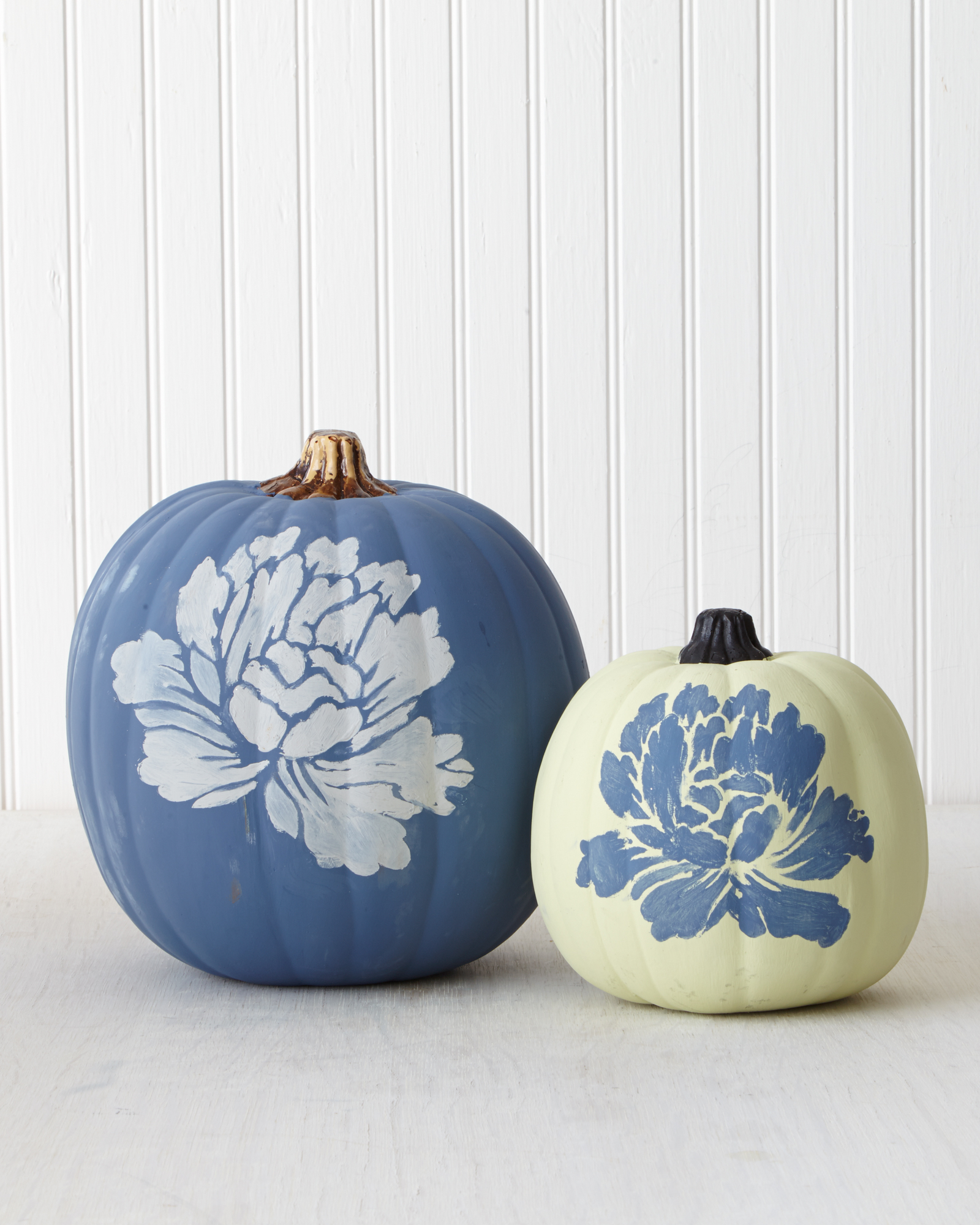 Chalk-Painted Pumpkin