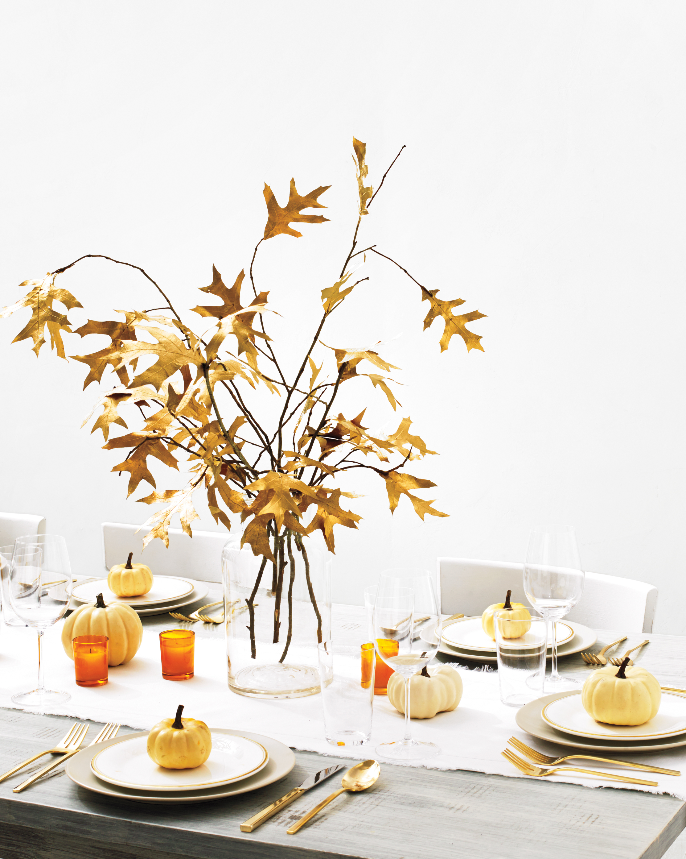 Gilded Leaves Centerpiece