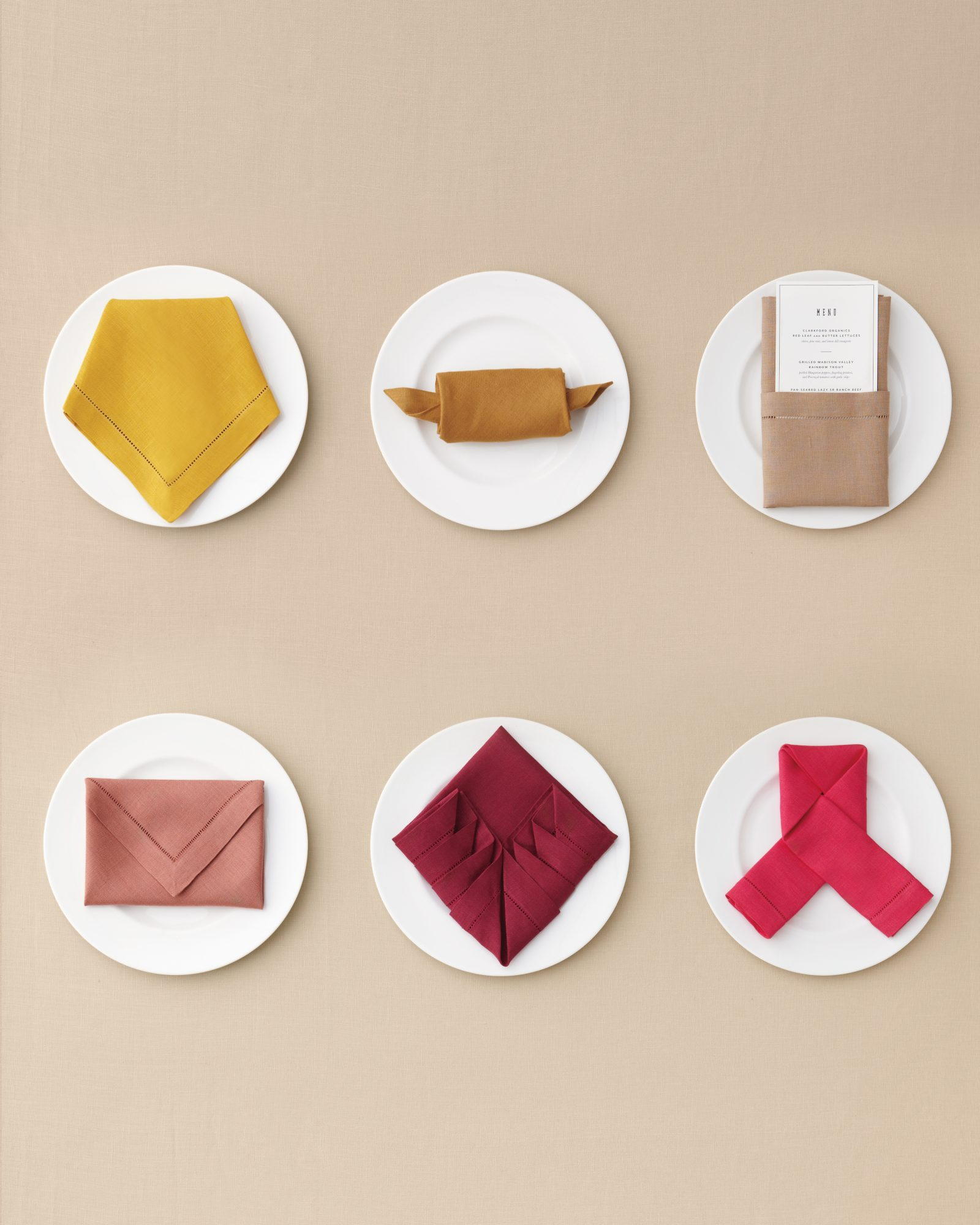 7 Ways To Fold A Table Napkin For Your Big Day And Every Day Martha Stewart