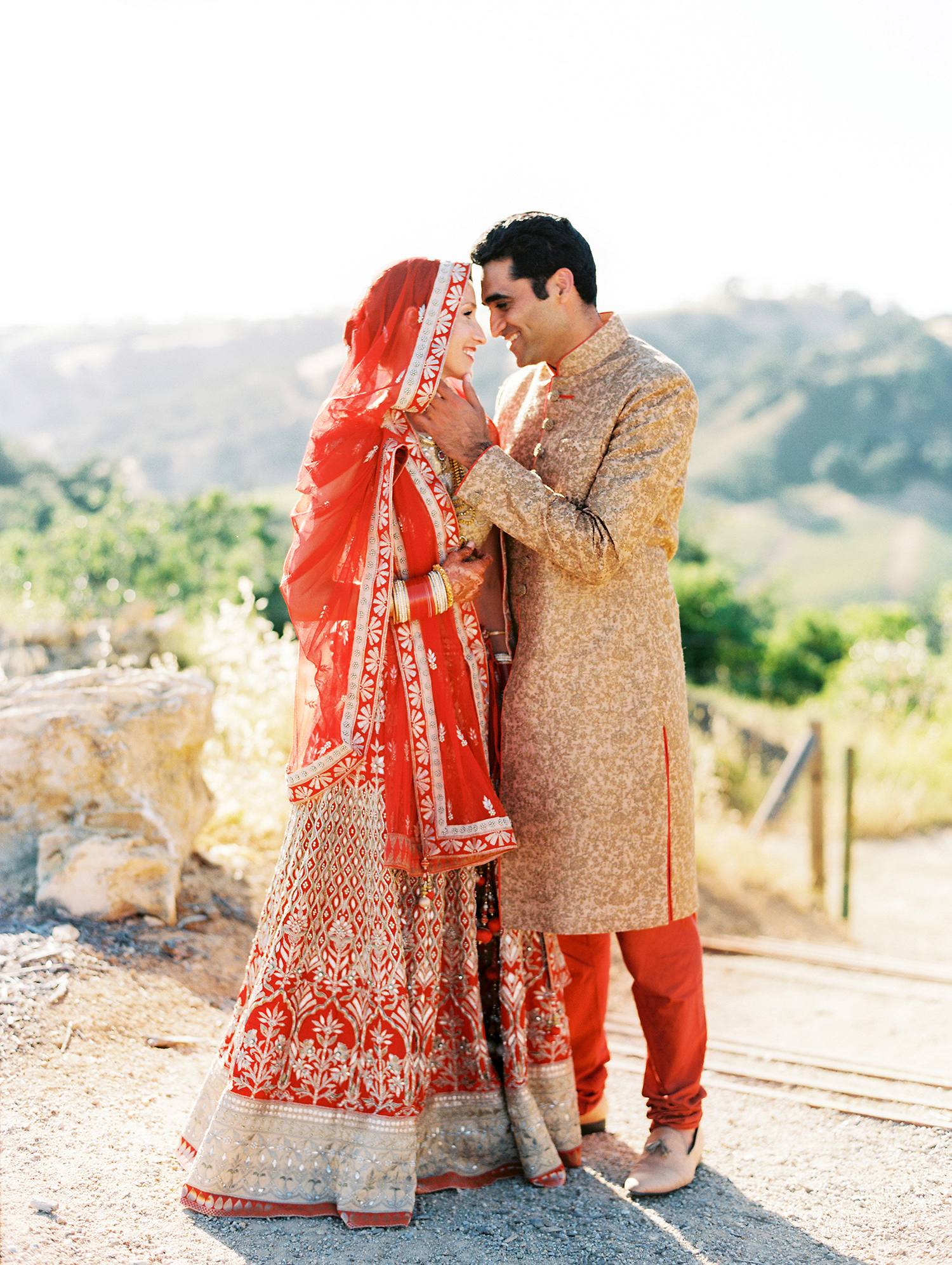 An Elegant Two Day Wedding In California With Both An Indian And A Western Ceremony Martha Stewart