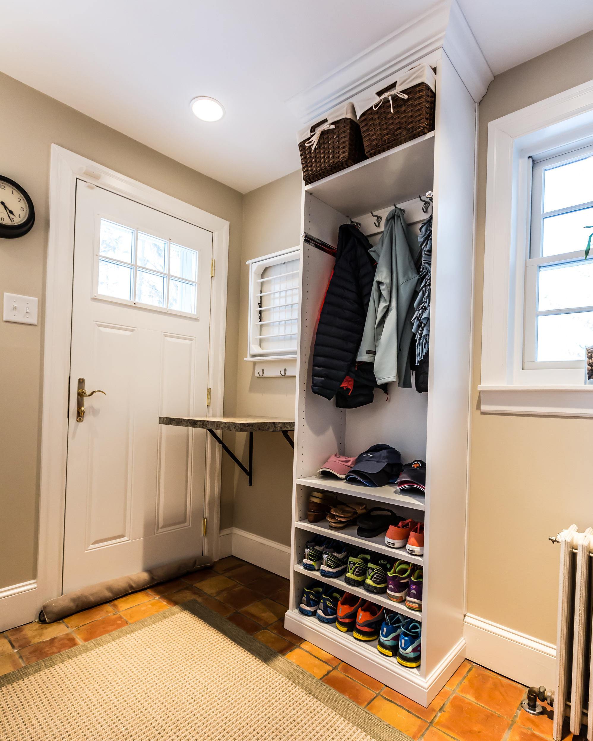A Mudroom Kitchen Combo Gets A Spotless Makeover Martha Stewart