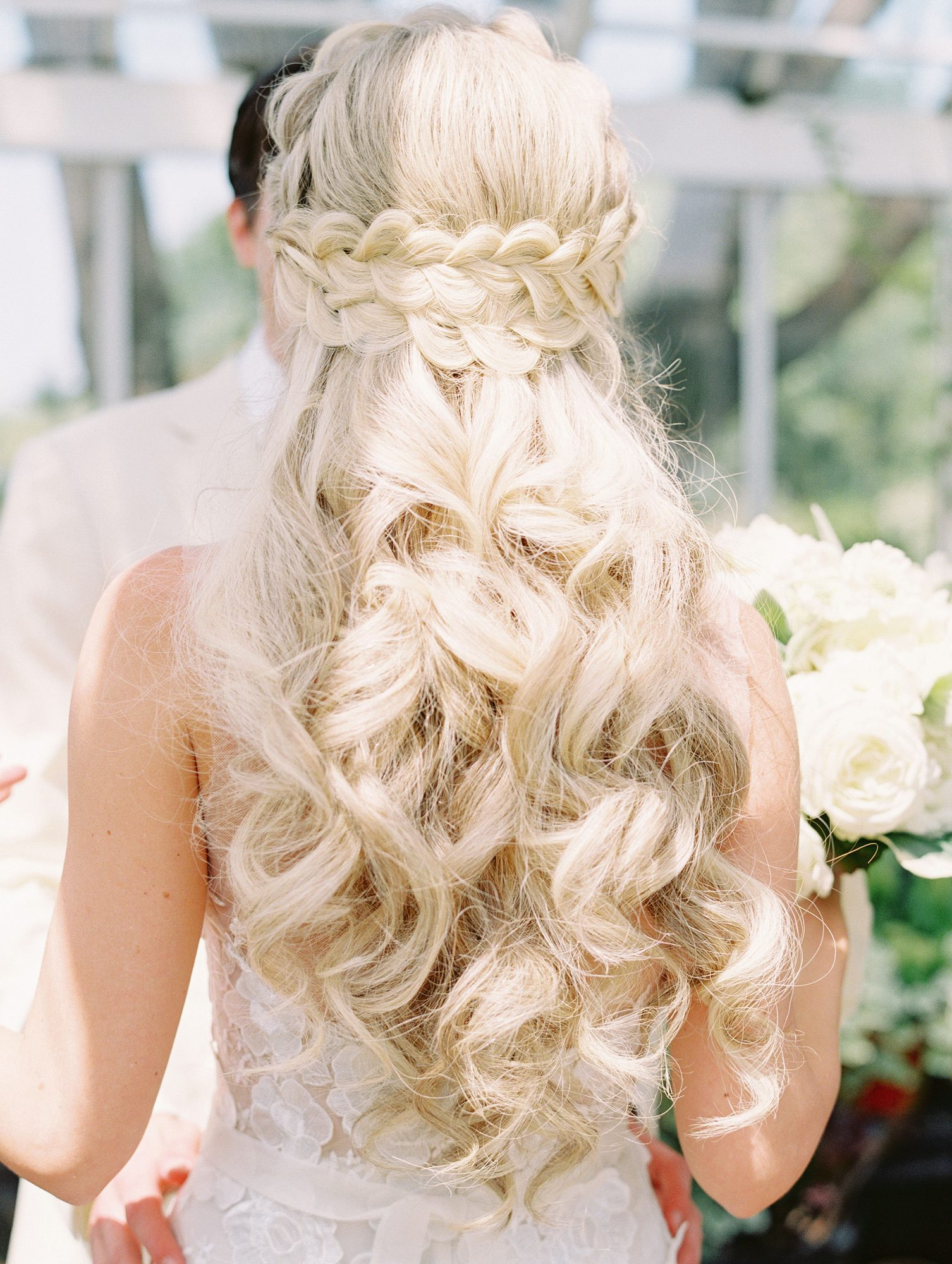 Pretty Wedding Hairstyles for Brides with Long Hair  Martha Stewart