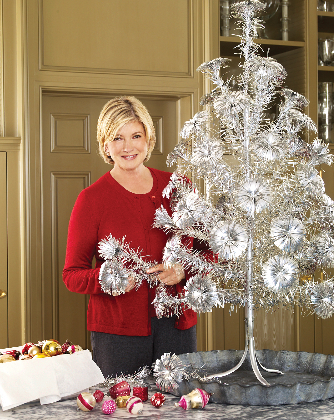 Martha S Personal Collection Of Vintage Faux Christmas Trees Martha Stewart