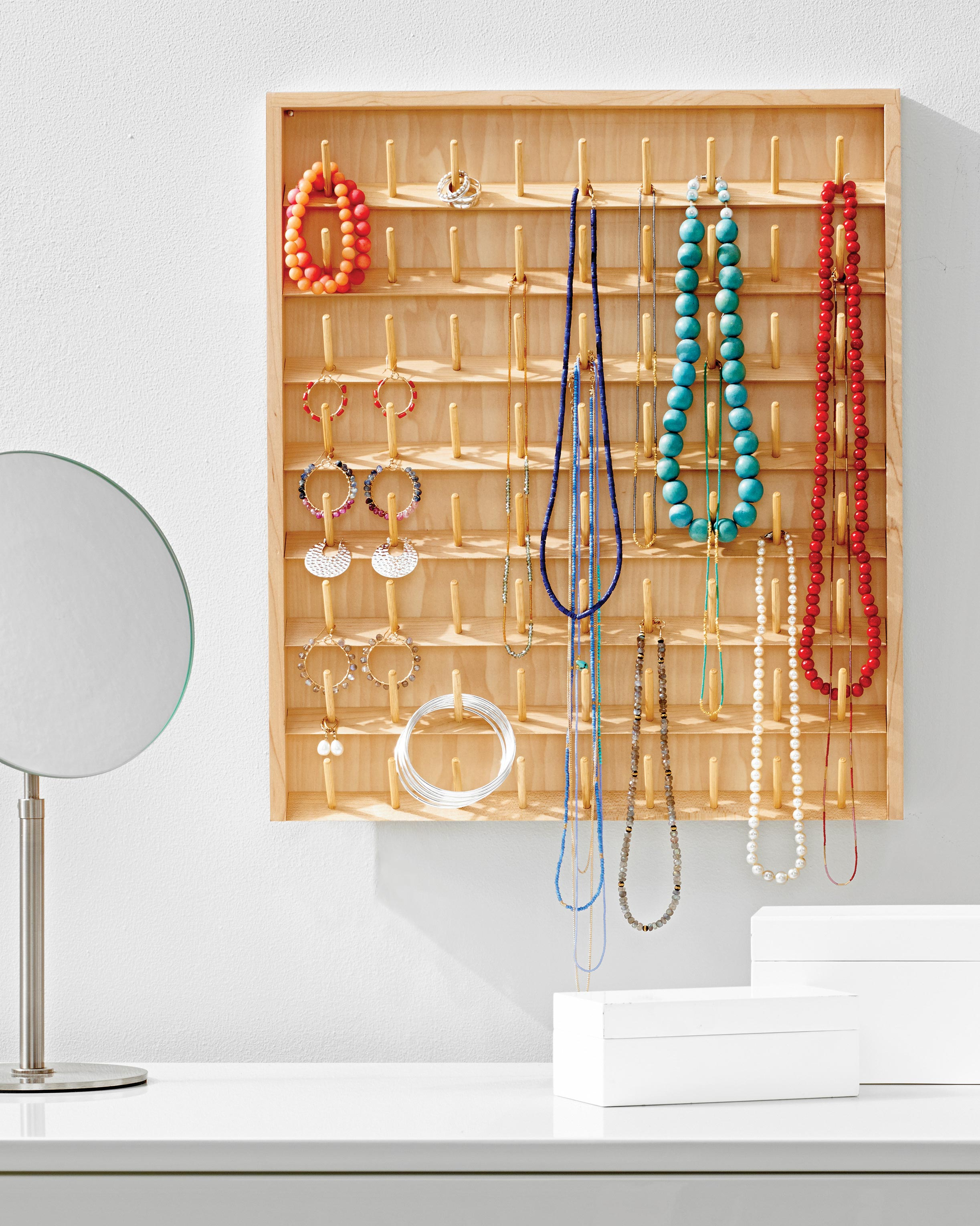 Diy Jewelry Organizers 13 Ways To Untangle Your Necklaces Bracelets And Rings Martha Stewart