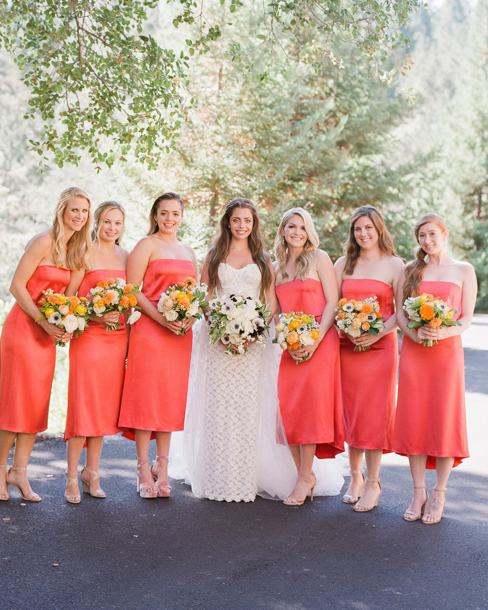 15 Coral Bridesmaids Dresses Your Wedding Party Will Love Martha Stewart