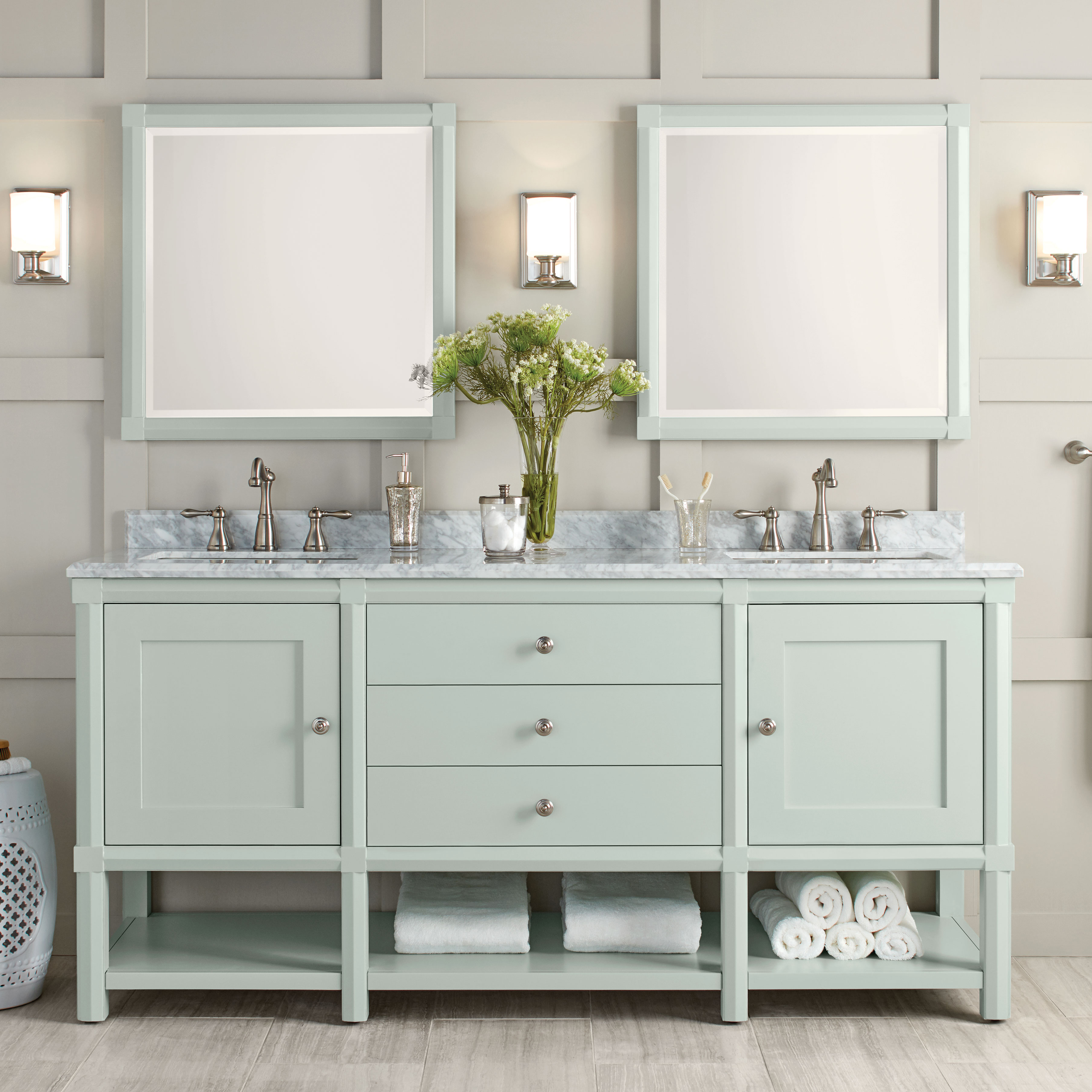 These Bath Vanities Deliver On Storage And Style Martha Stewart