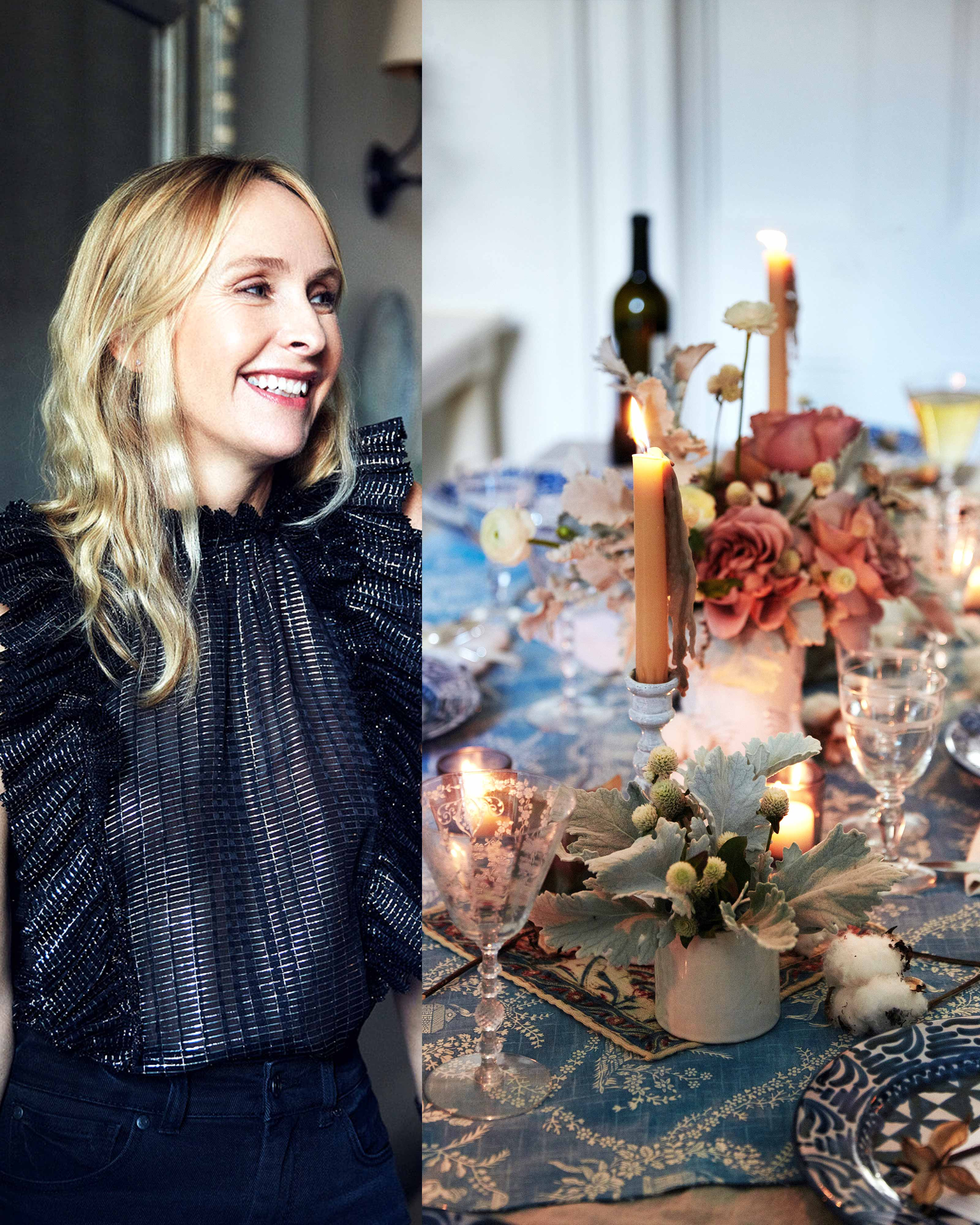 Sparklers and Roses: Rebecca Taylor Shows Us How to Throw a Feminine Holiday Party