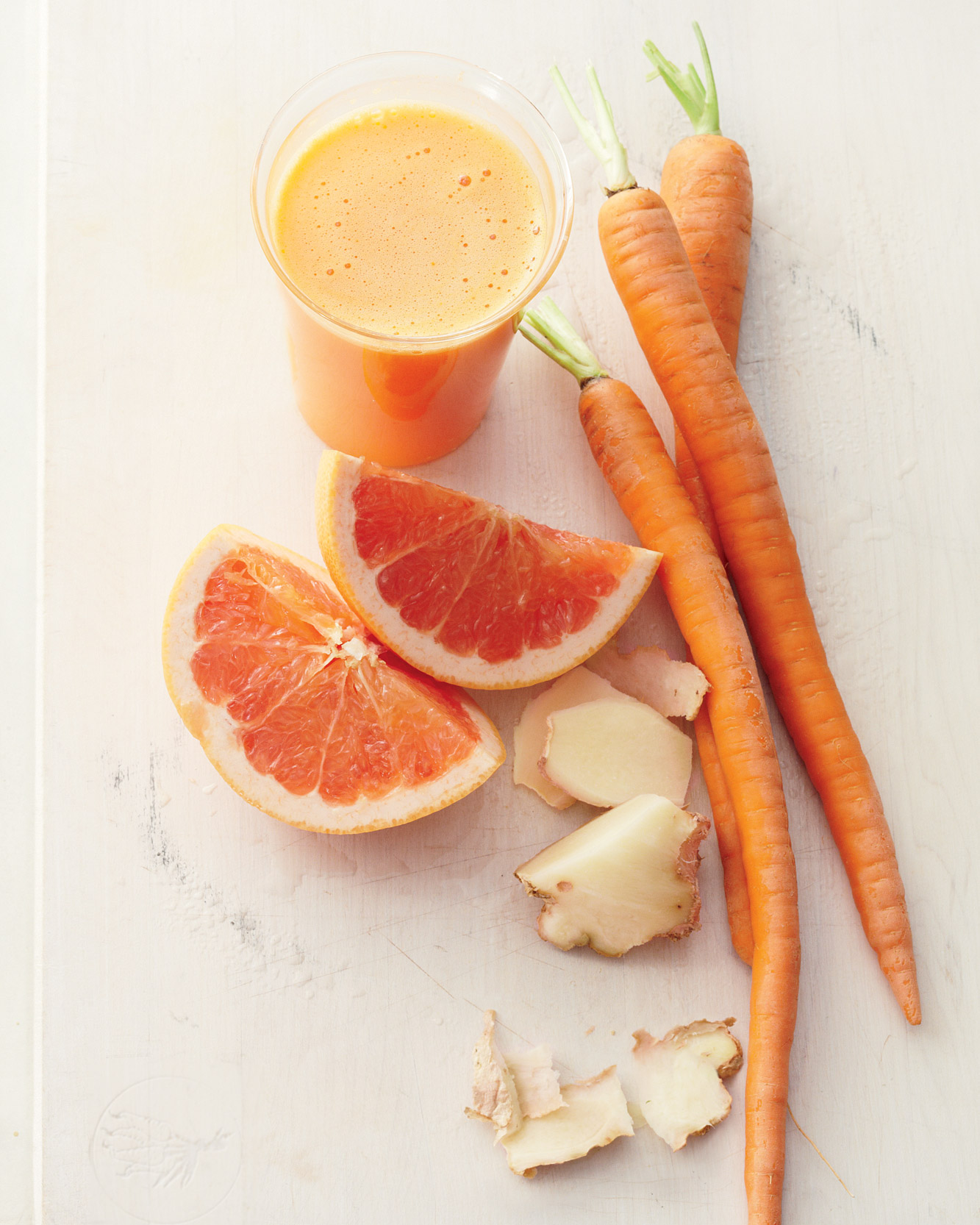 Grapefruit, Carrot, and Ginger Juice