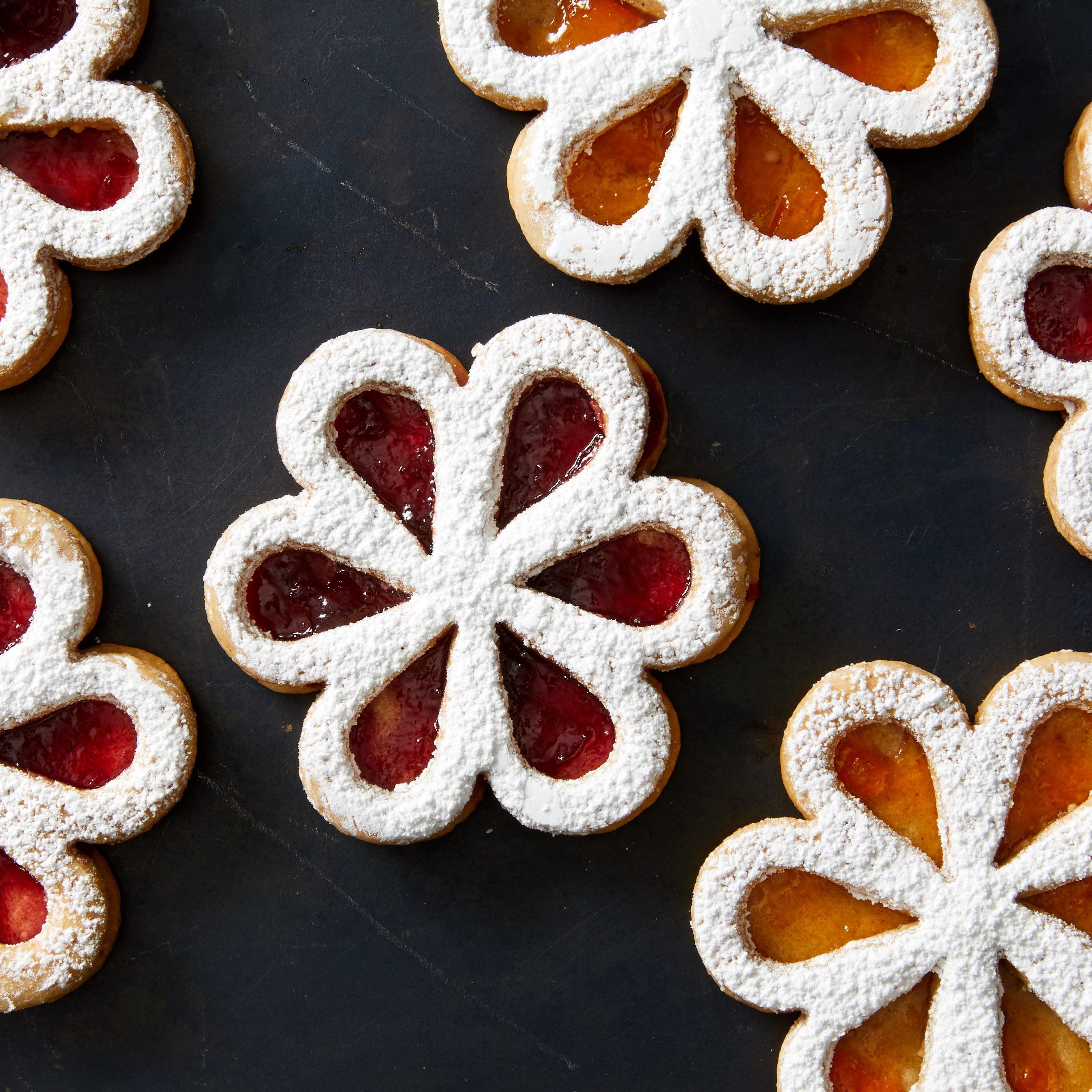 Martha's Linzer Flower Cookies Are Just the Thing for Spring