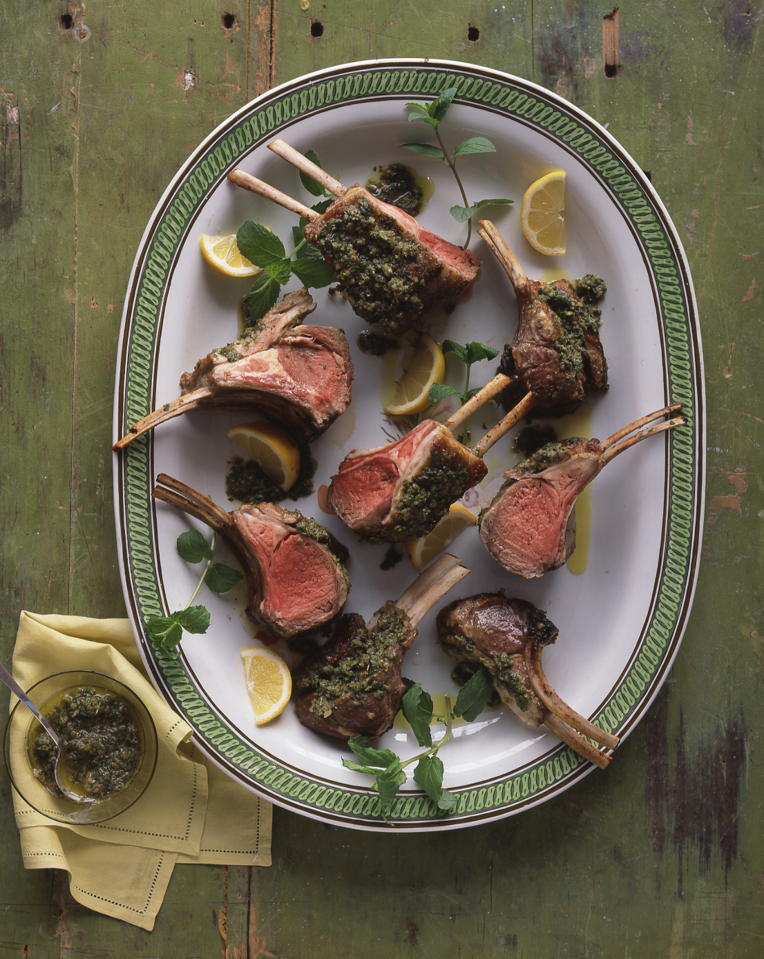 Roasted Rack of Lamb with Plenty of Mint, for Easter Dinner