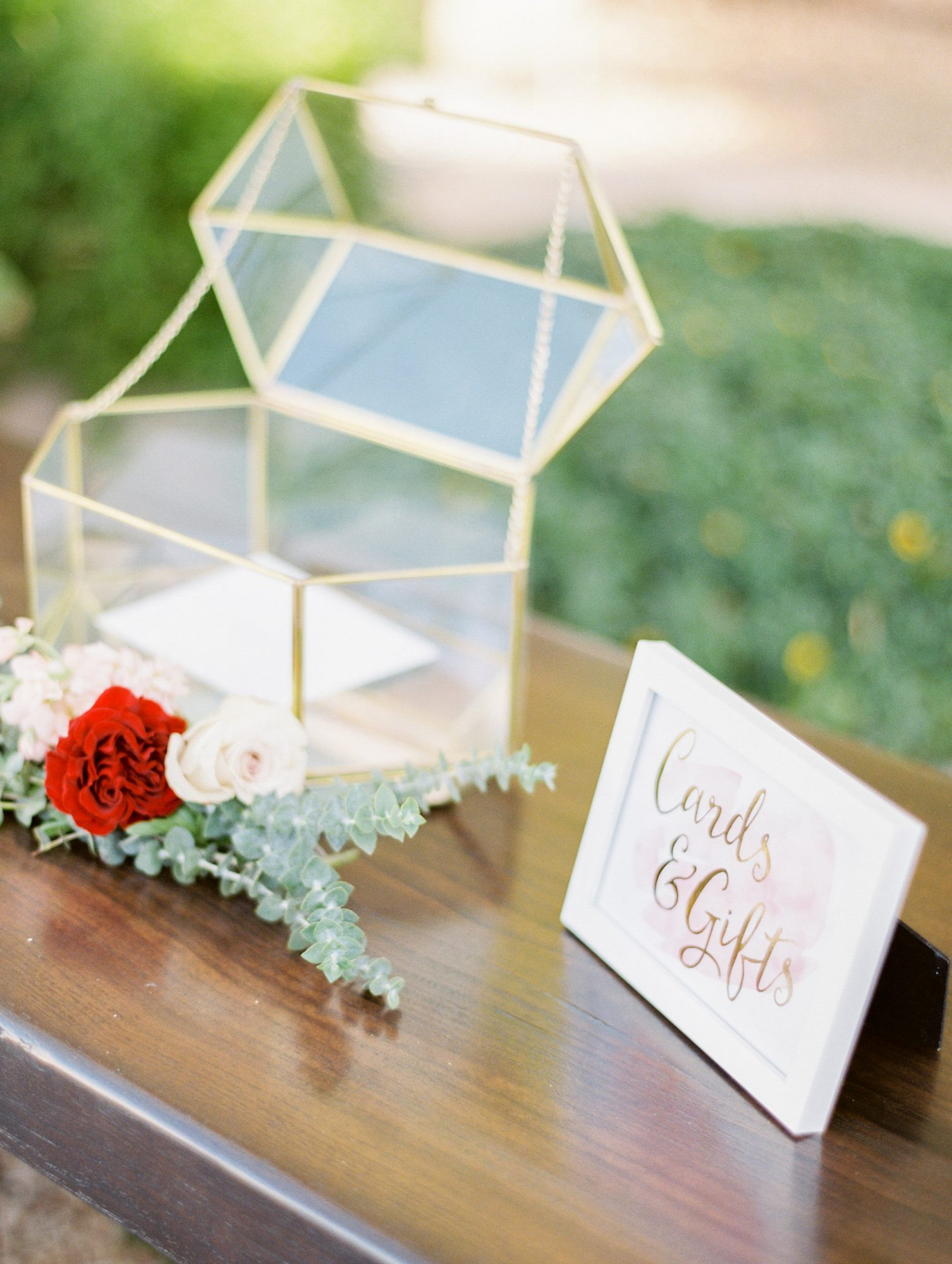 Cards and Gifts Table Rustic Wood Printed Wedding Sign