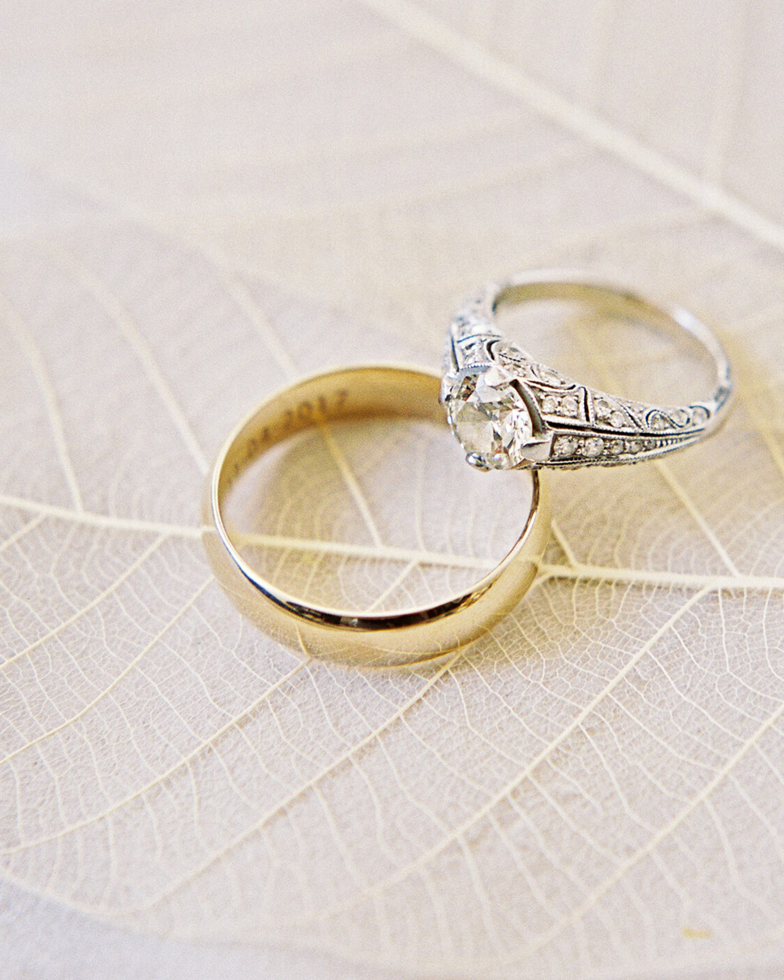 How To Choose A Mixed Metal Engagement Ring And Wedding Band Pairing Martha Stewart