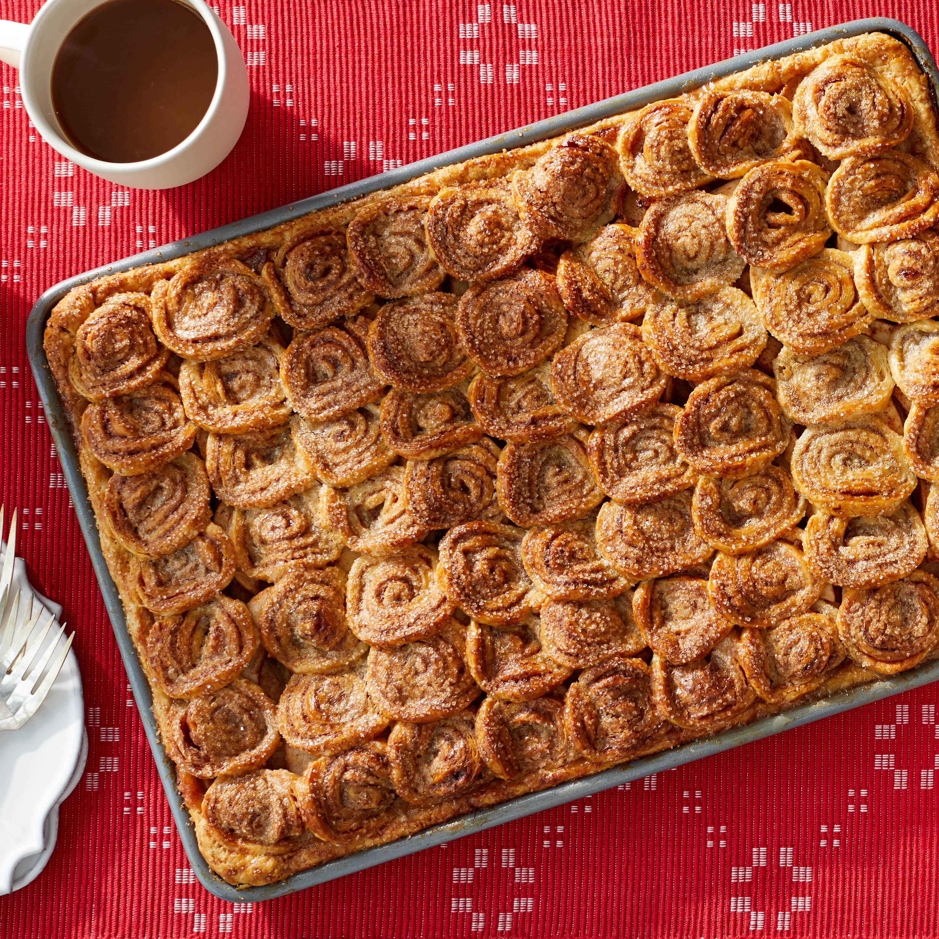 Martha's Amazing Apple Pie Has 63 Mini Cinnamon Rolls On Top