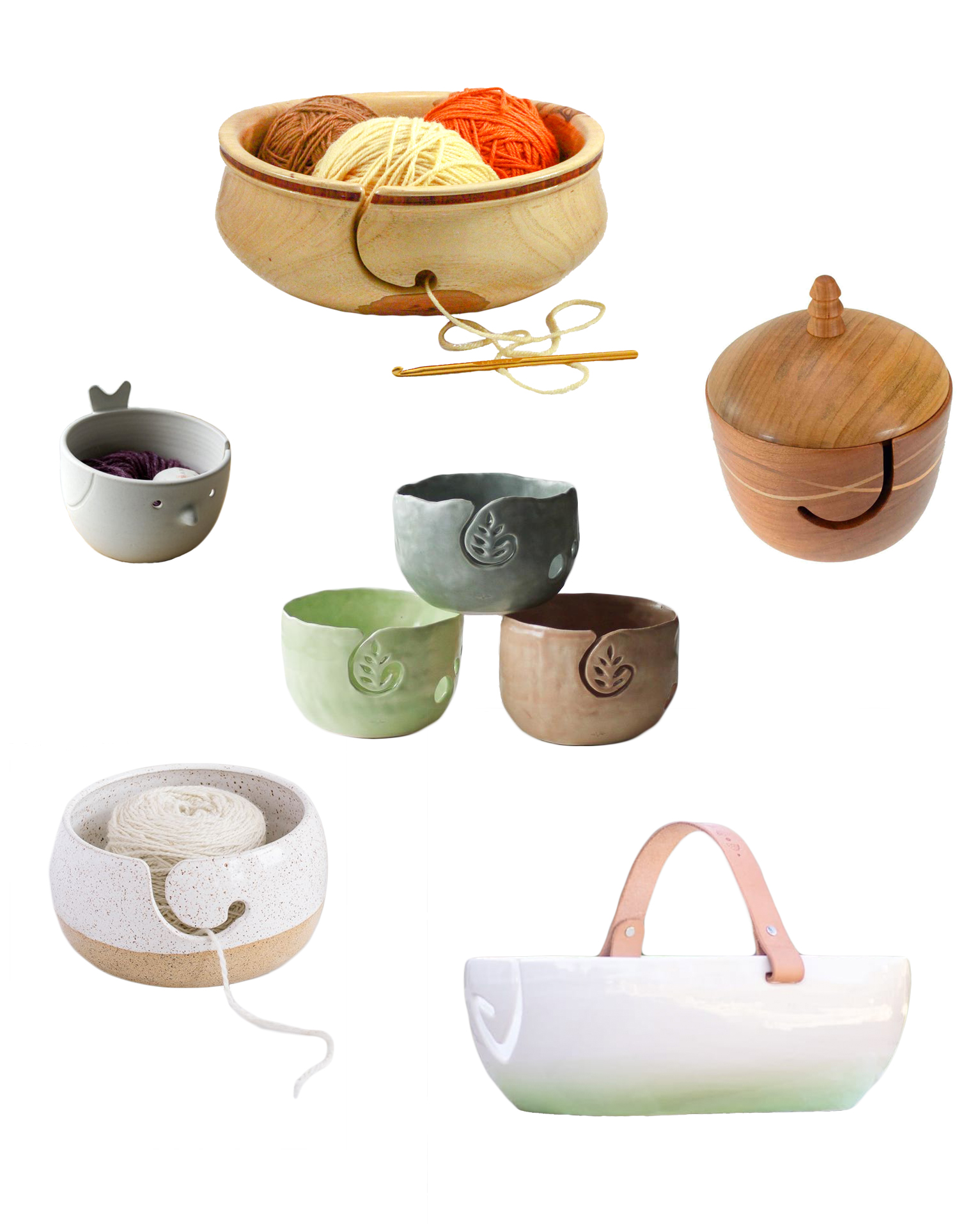 Beautiful Yarn Bowls for Every Kind of Crafter