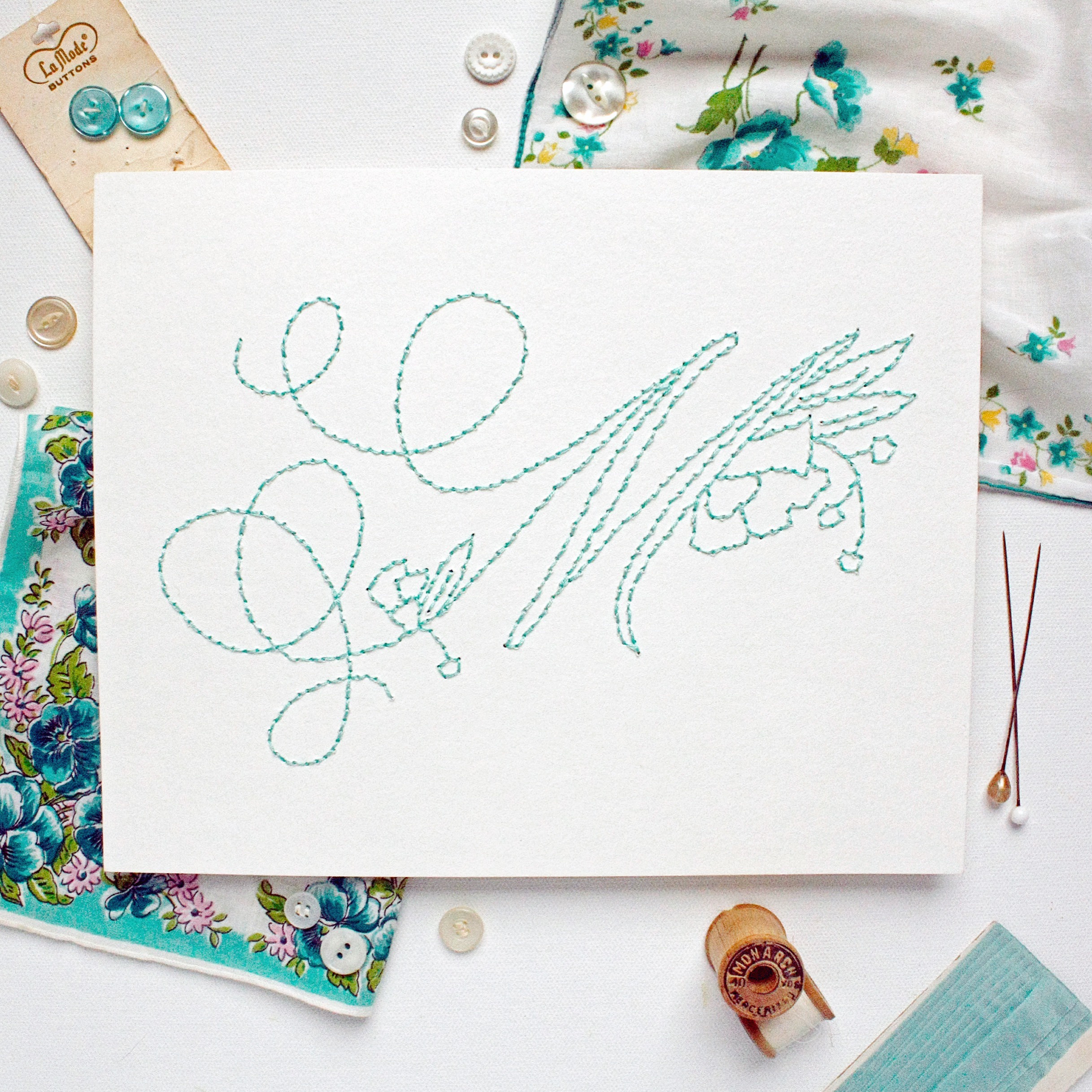How to Embroider Any Monogram—From A to Z