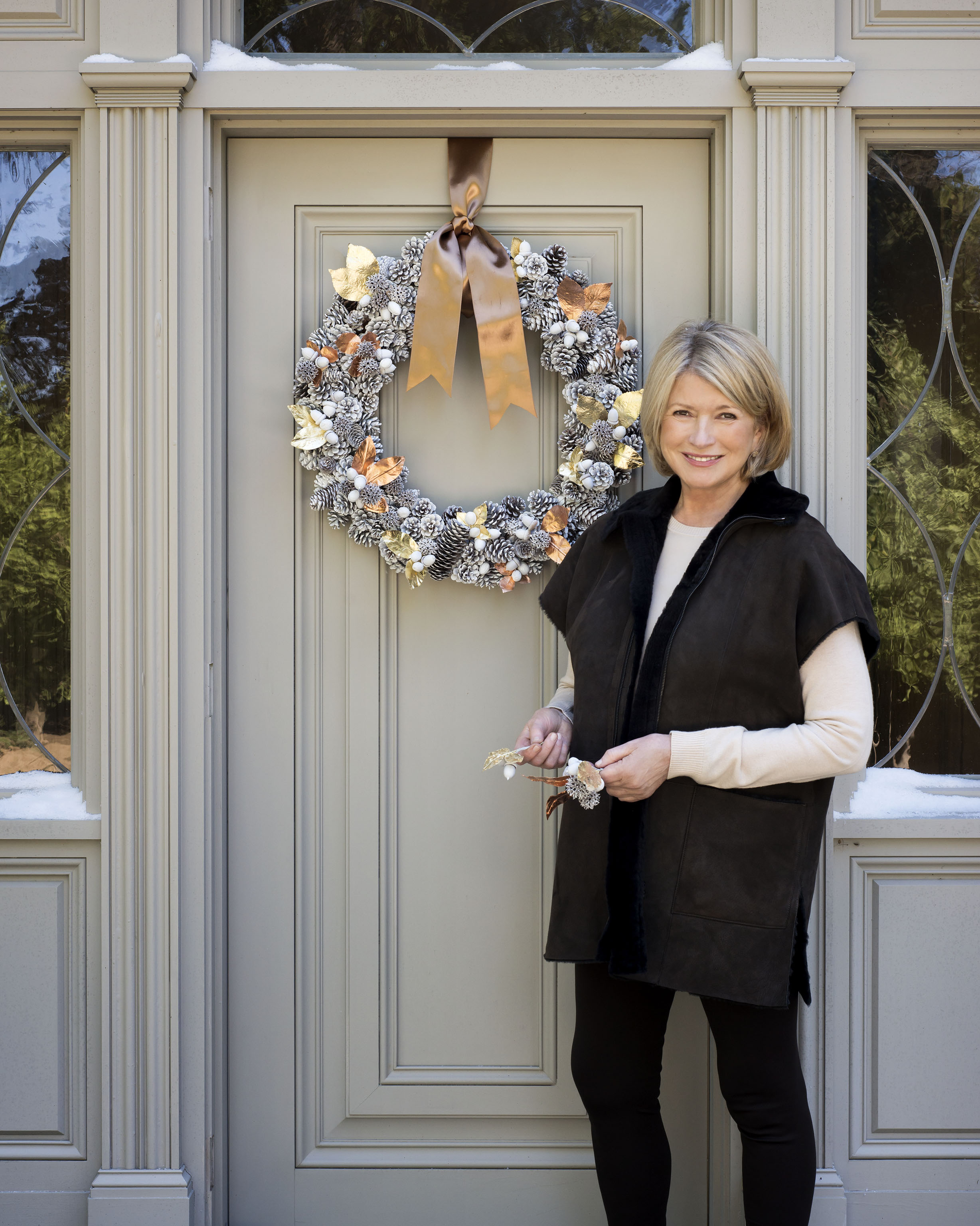 How To Hang A Wreath Without Making Holes In The Door Martha Stewart