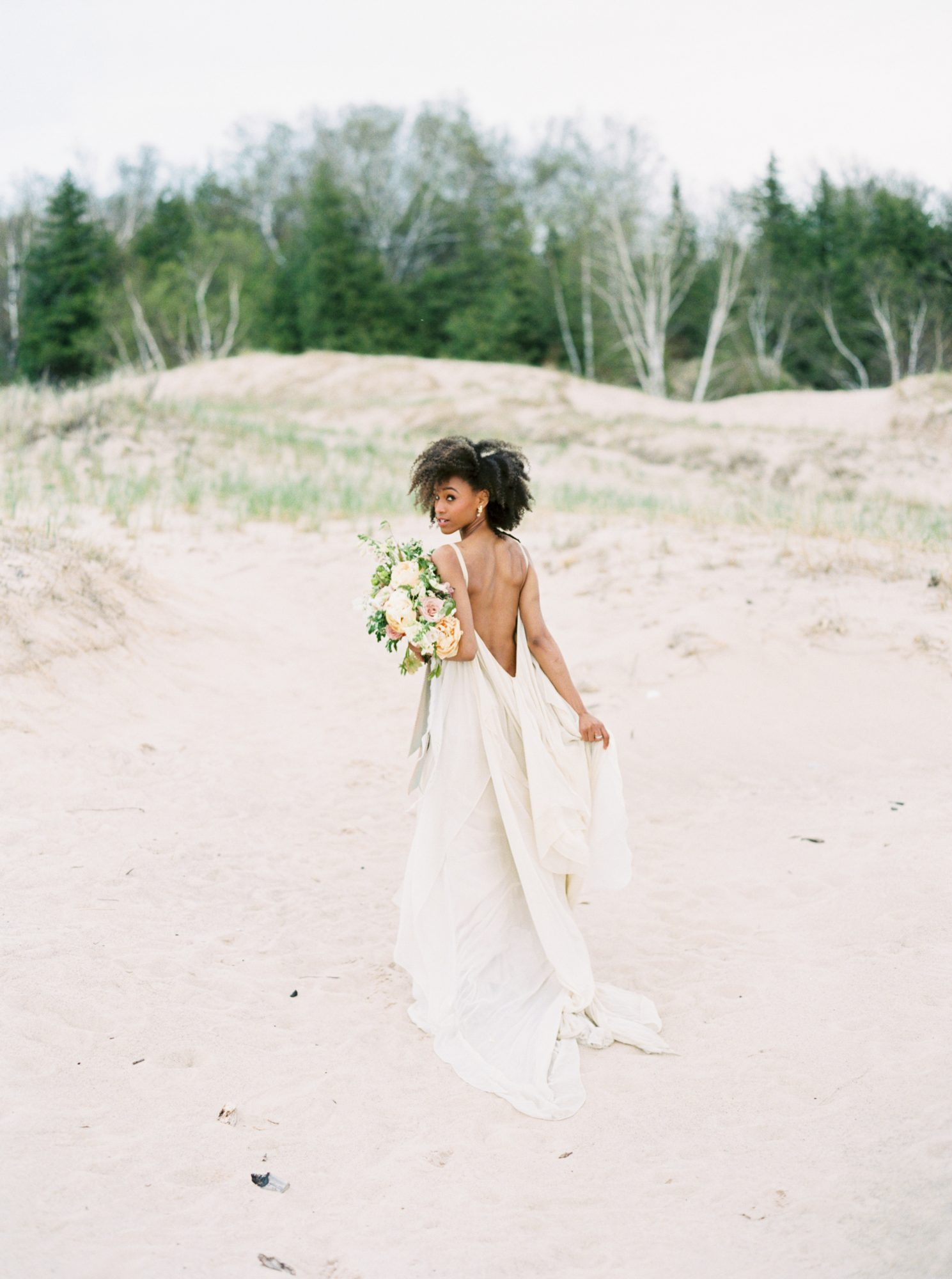 33 Beach Wedding Dresses Real Brides Wore That We Love Martha Stewart