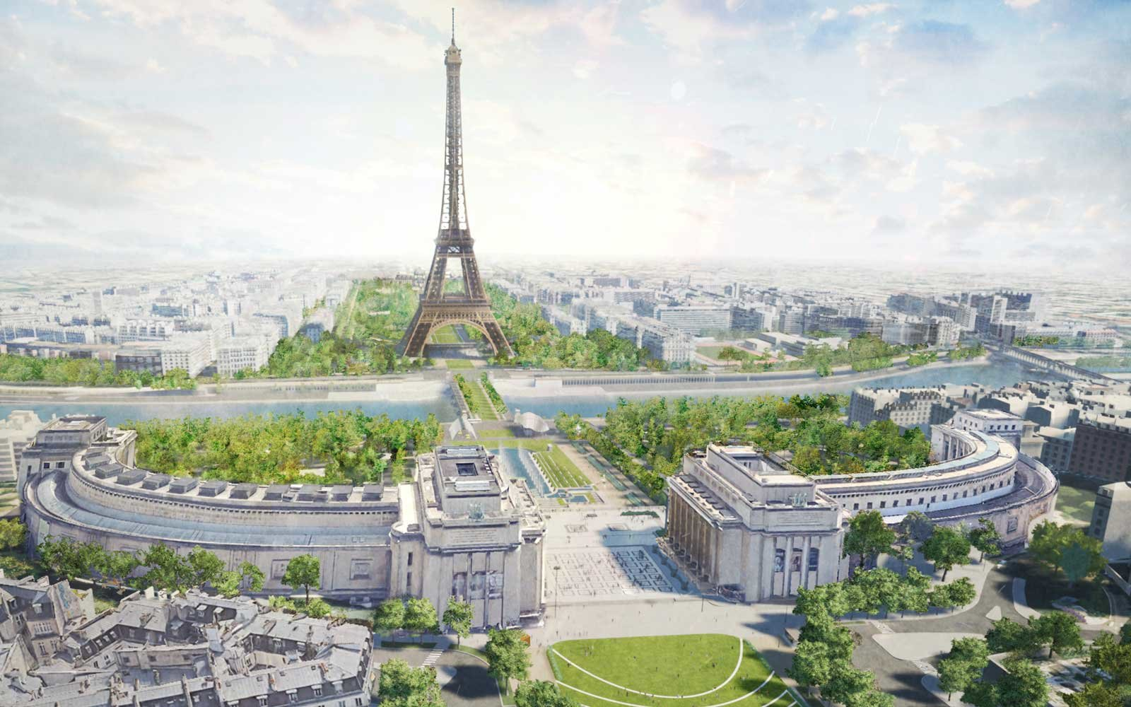 The Eiffel Tower Is Getting a Gorgeous, Green Makeover
