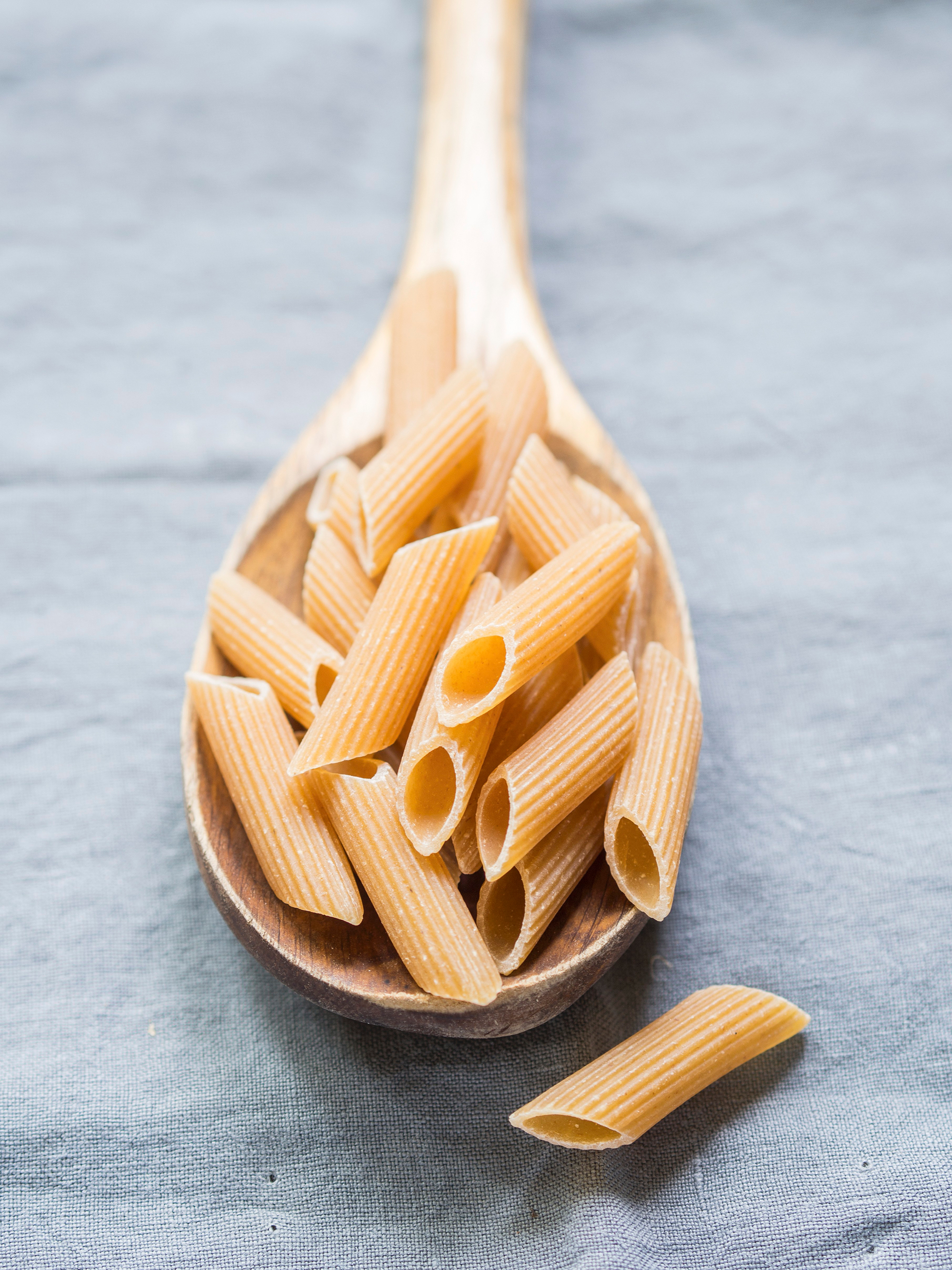 Whole Wheat Pasta in a Spoon