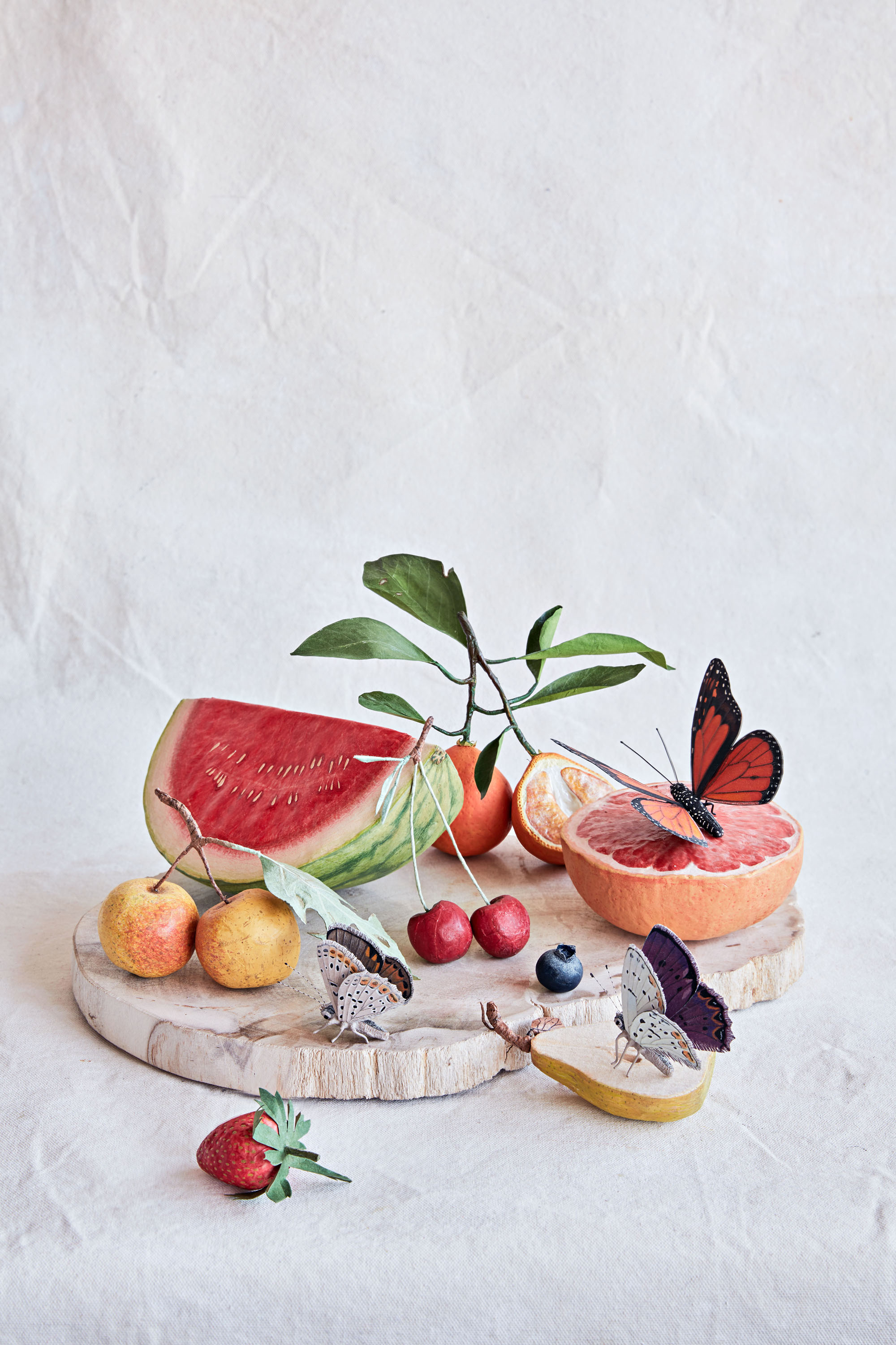Ann Wood's Paper Flowers, Fruit, and Insects Are a Sight to Behold