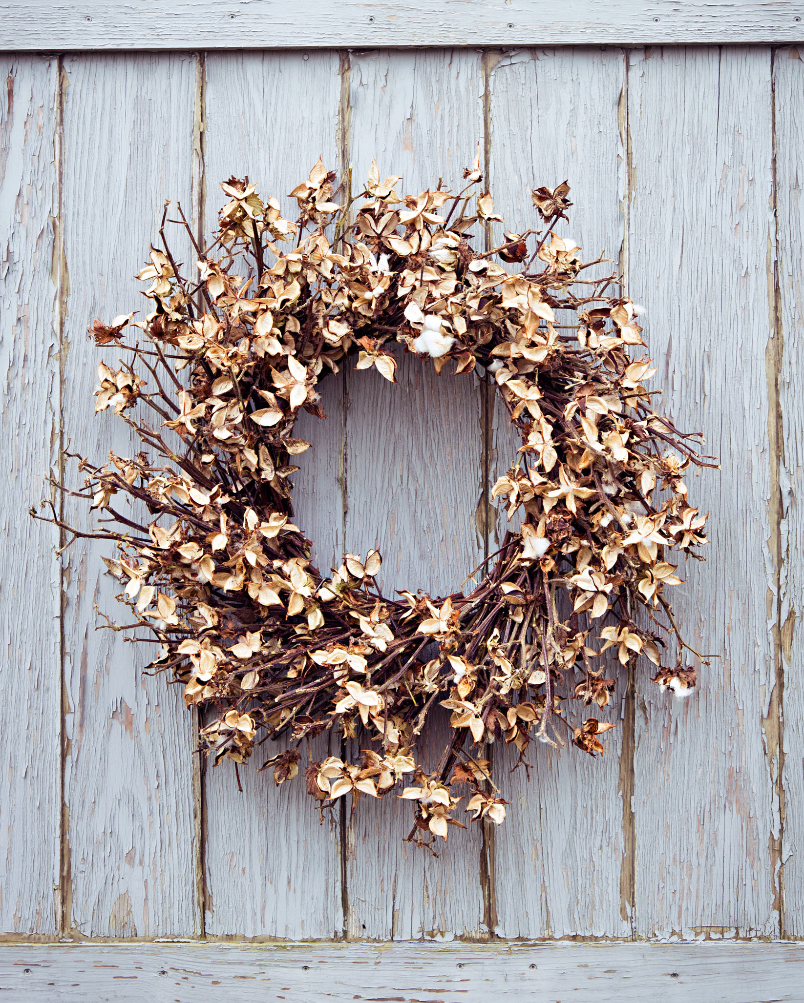 dried bracts wreath