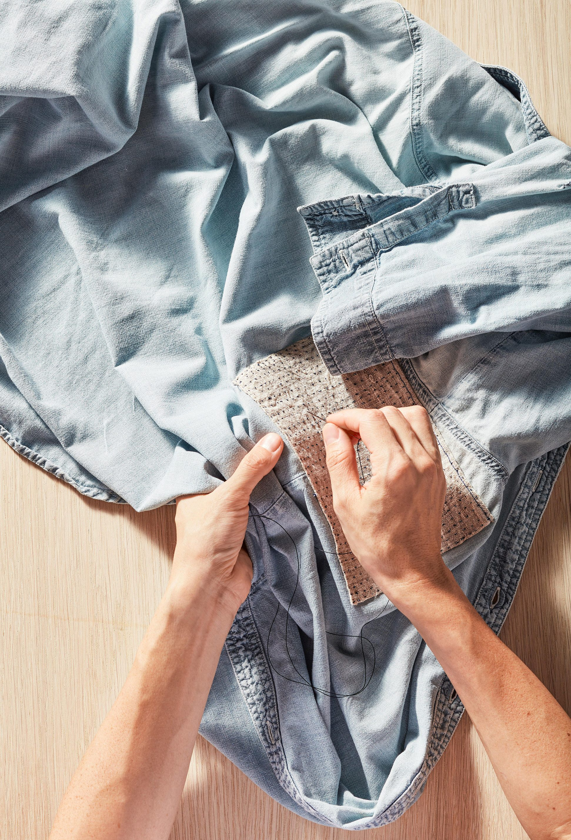 Modern Mending How To Patch A Hole Mend A Seam And Fix A Hem Martha Stewart