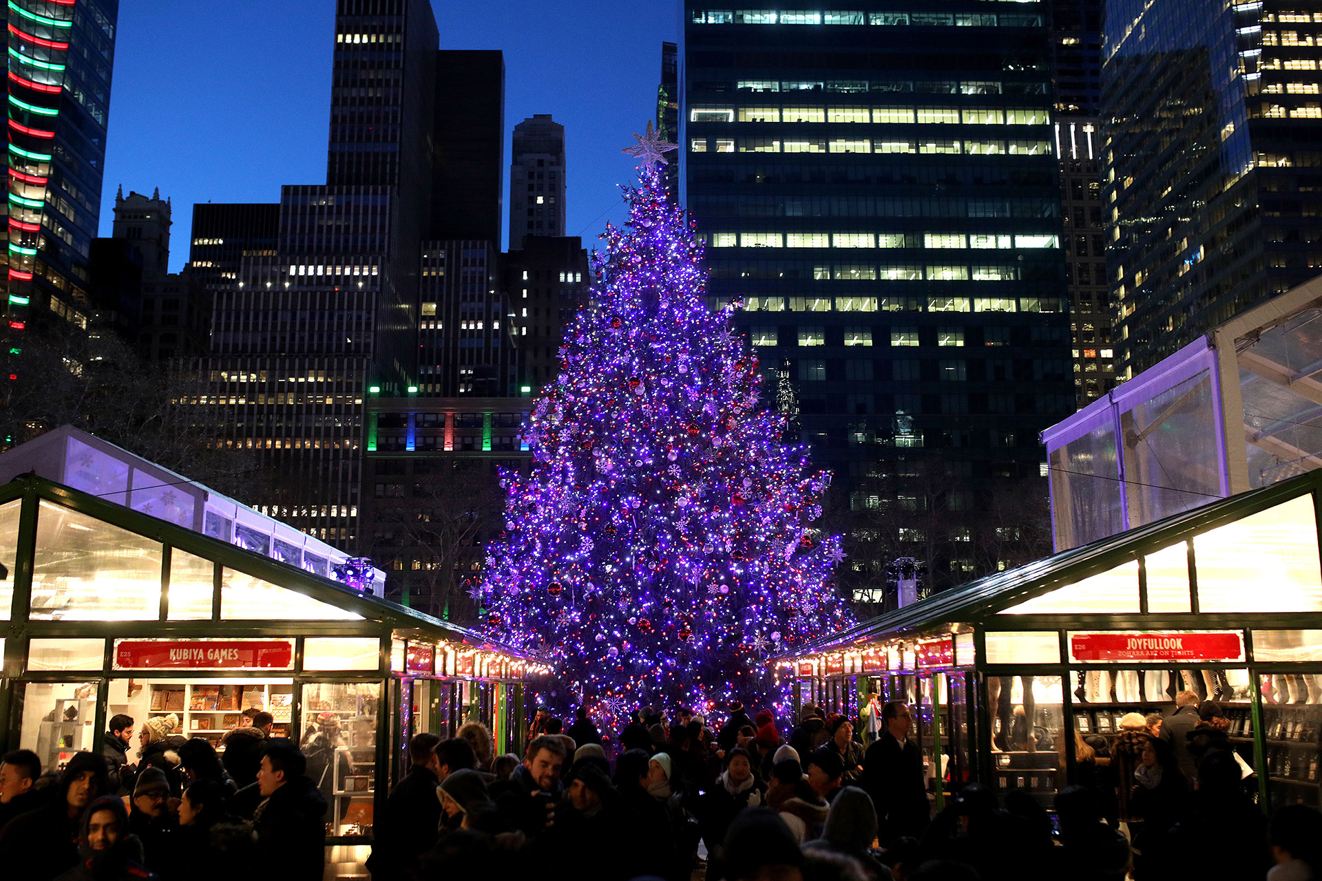 Bryant Park Christmas Market.The Most Charming Christmas Markets Around The World