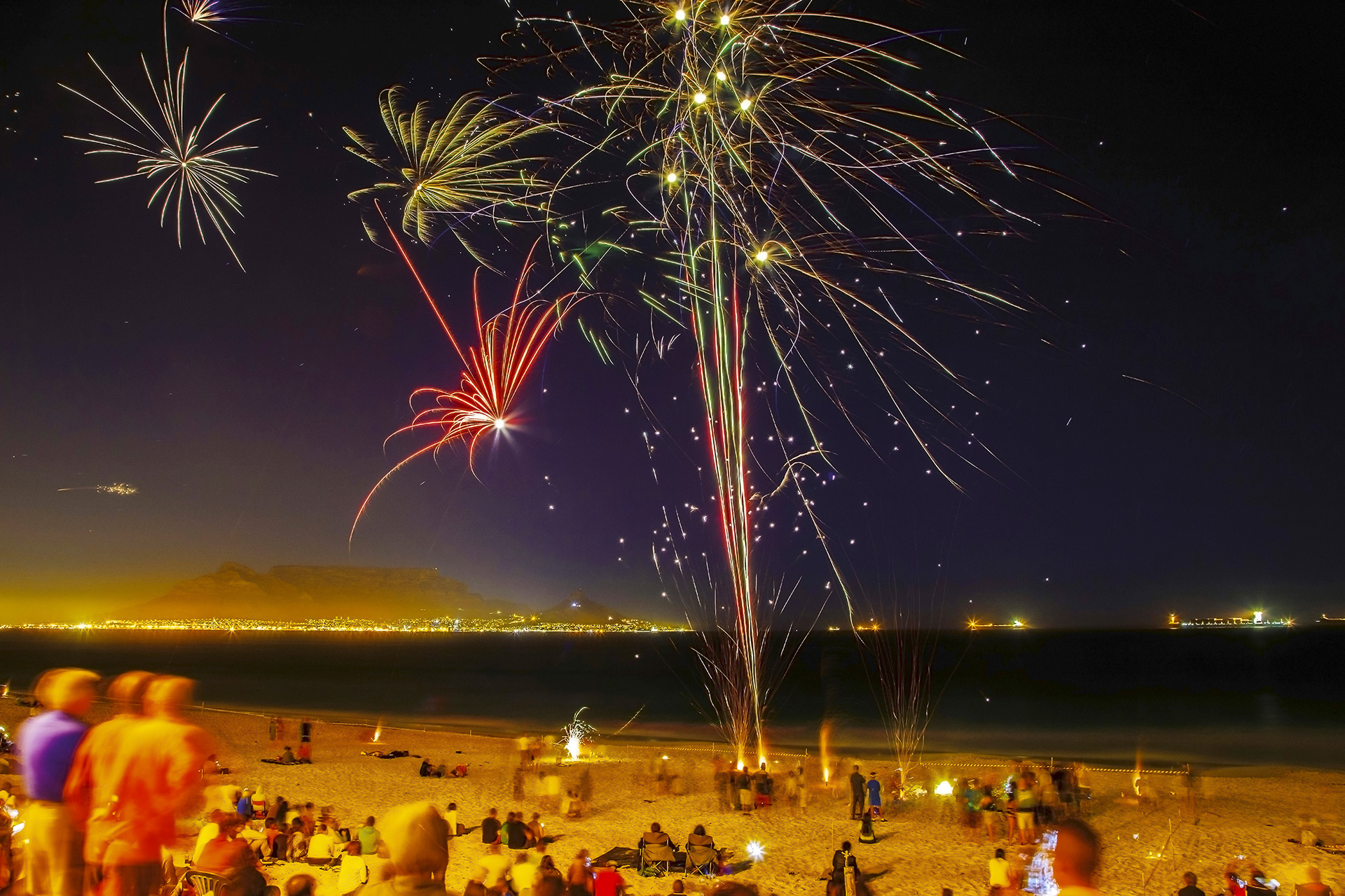 cape town beach new years south africa