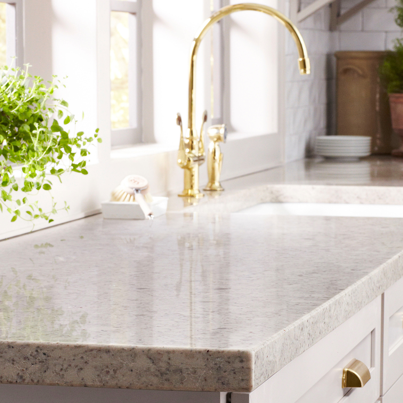 granite counter top kitchen sink