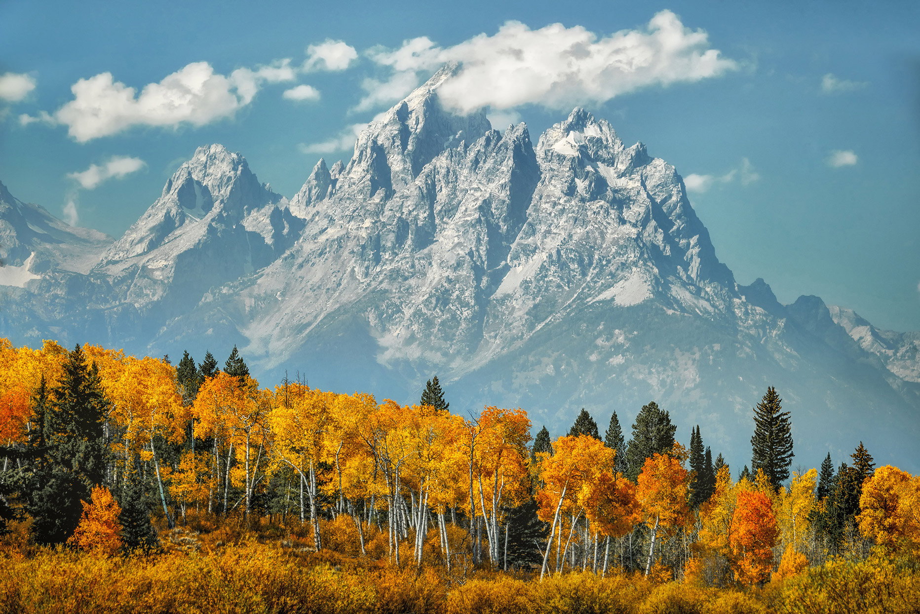 Grand Teton Mountains in Fall