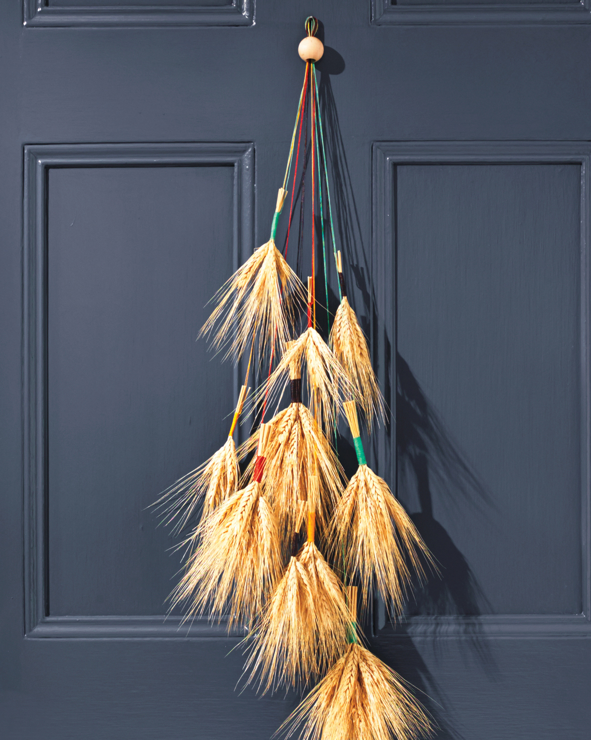 wheat door decor