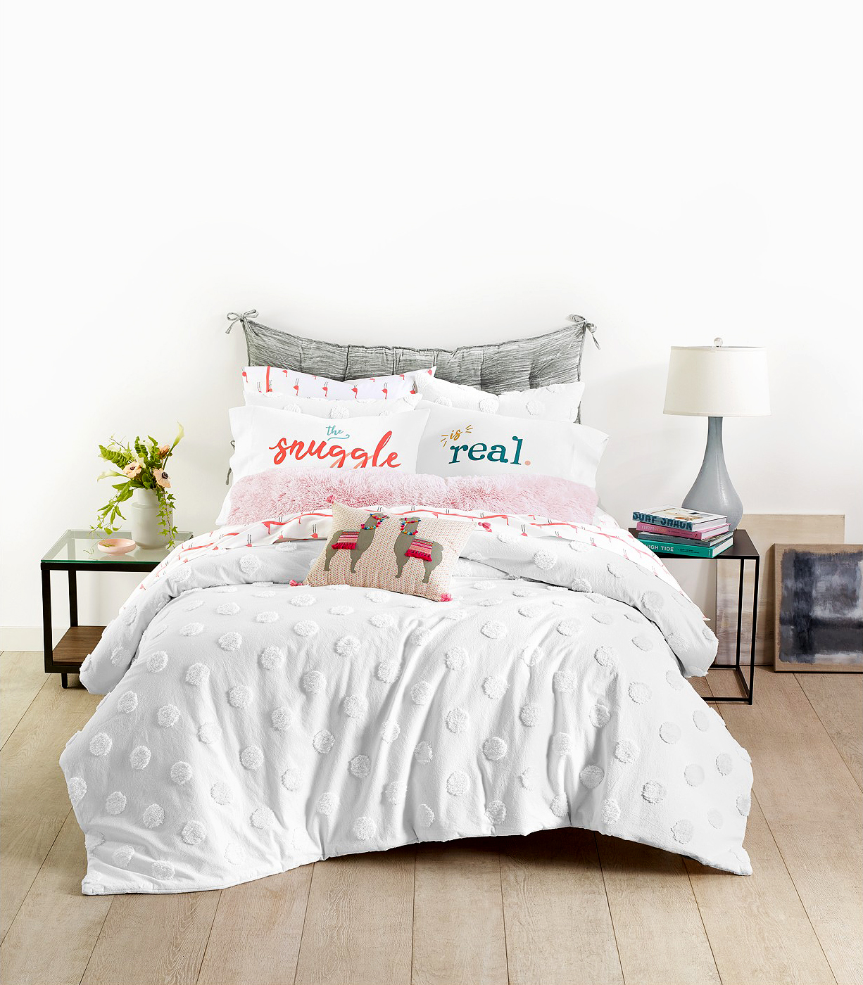 Macy's dorm-room friendly bedding