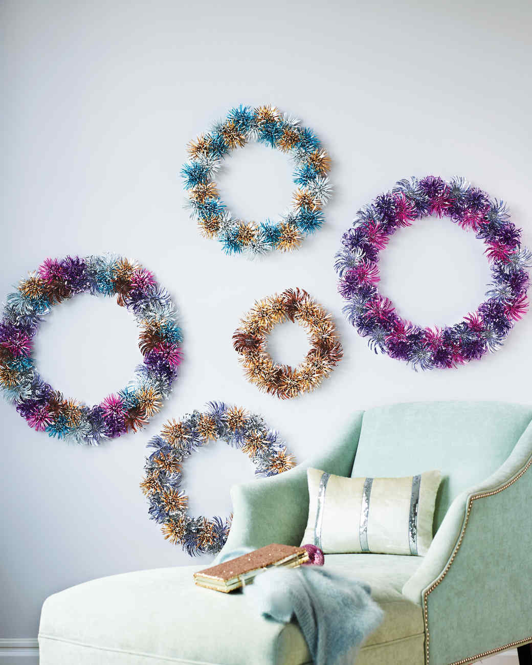 Foil Flower Wreaths