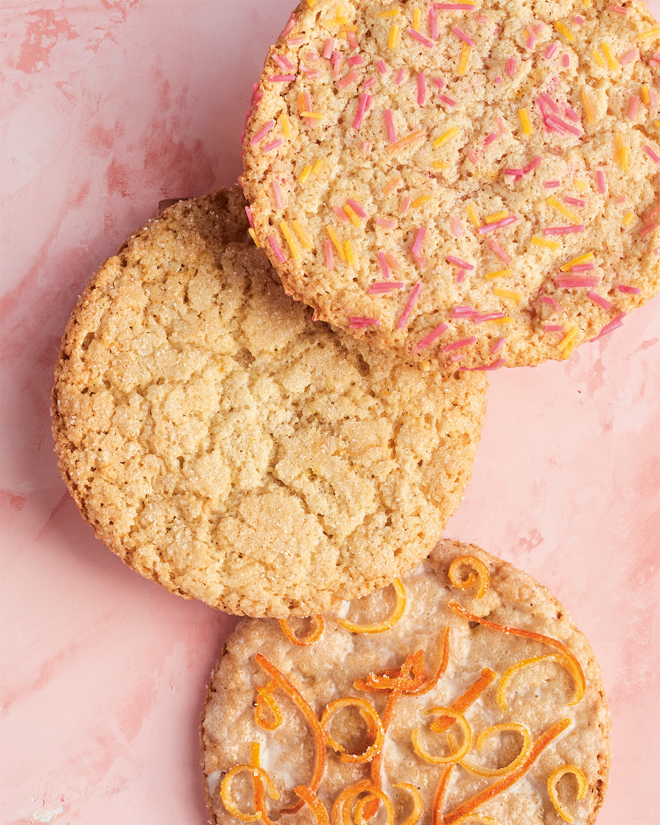 Sugar Cookies with Sprinkles and Candied Fruit