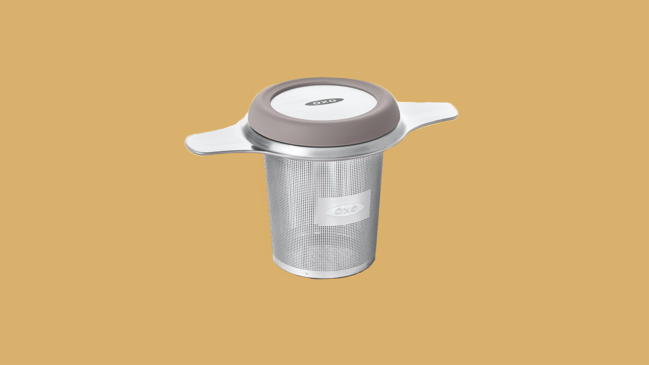 silver oxo tea infuser basket with lid