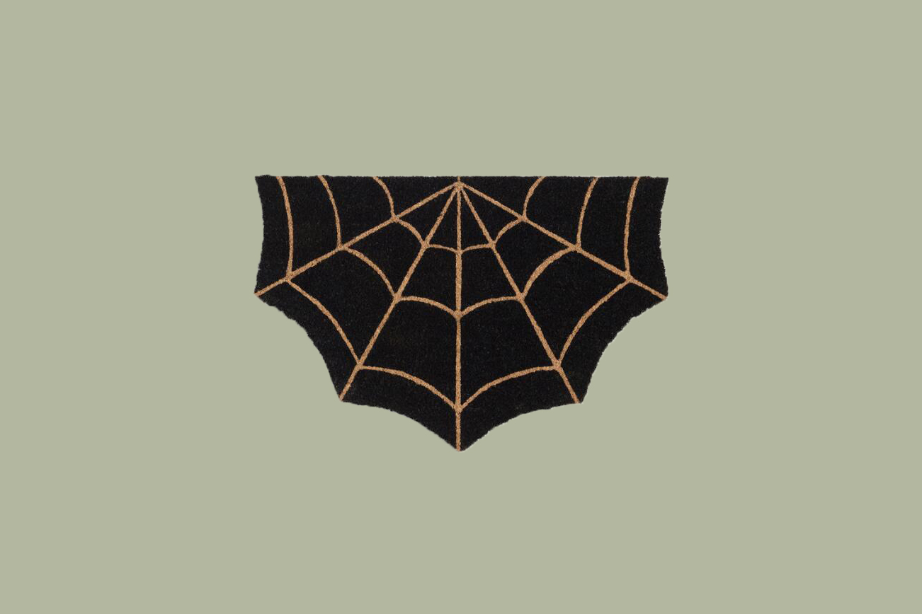 Spider Web Welcome Mat