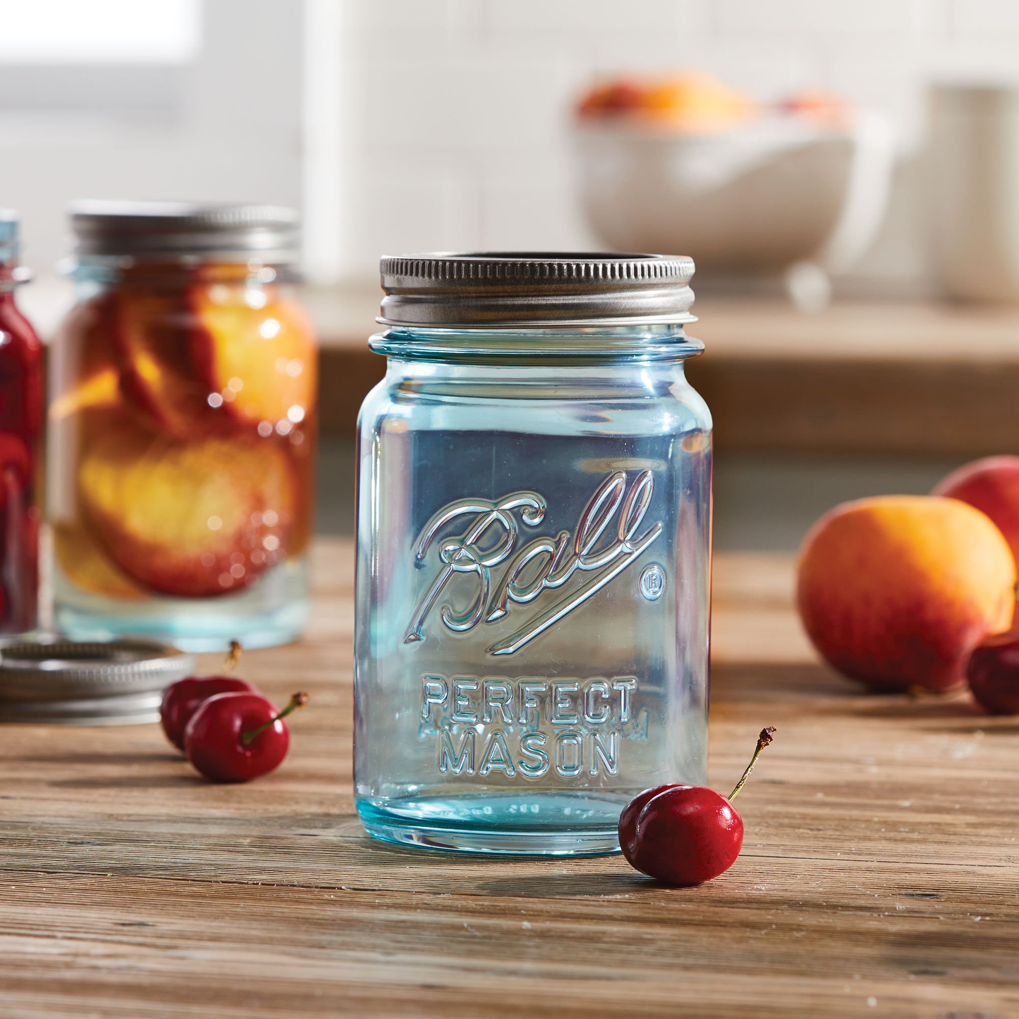 Calling All Canners: Ball Just Released a Line of Vintage Aqua Mason Jars and They're Beautiful
