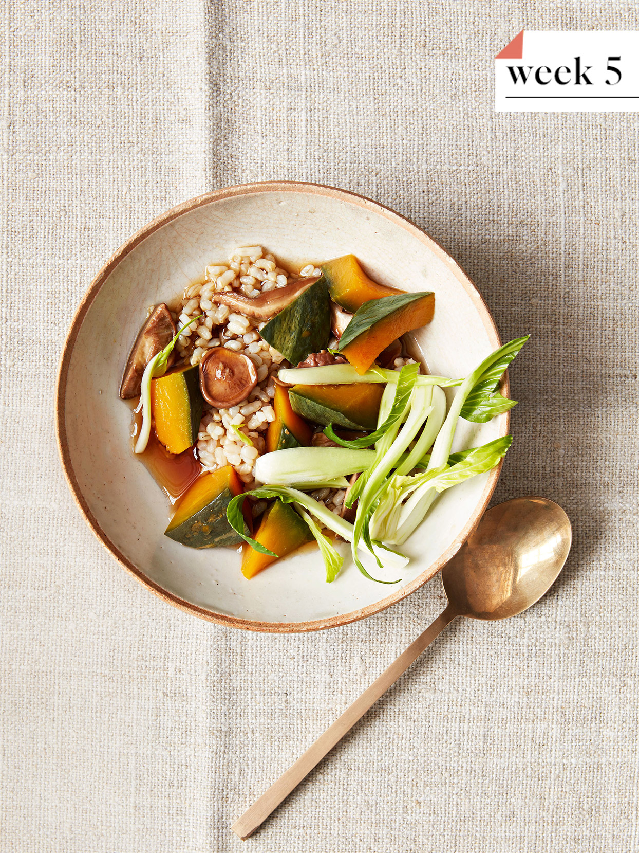 Brown-Rice Bowl with Kabocha Squash and Shiitakes