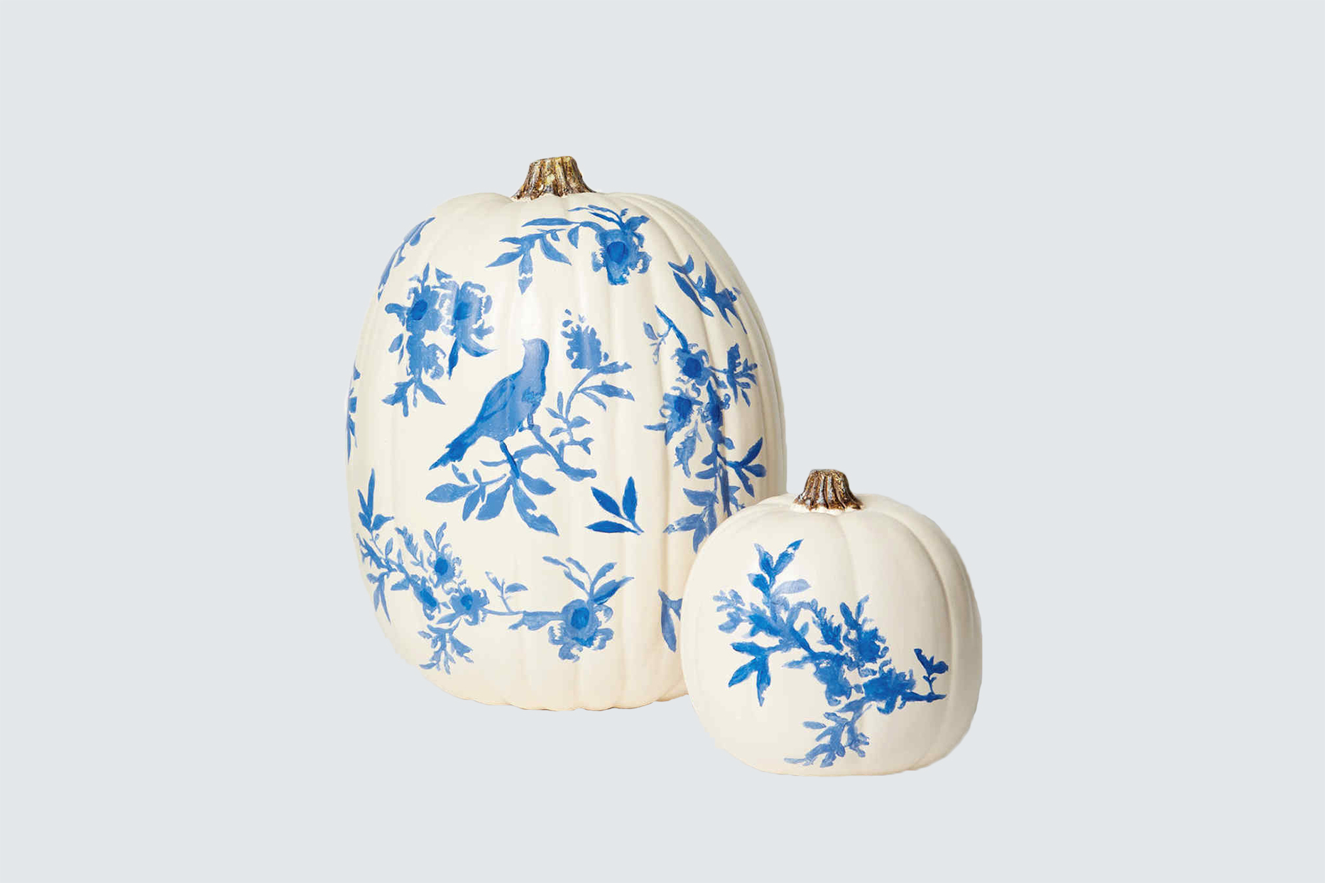 chinoiserie pattern painted pumpkin