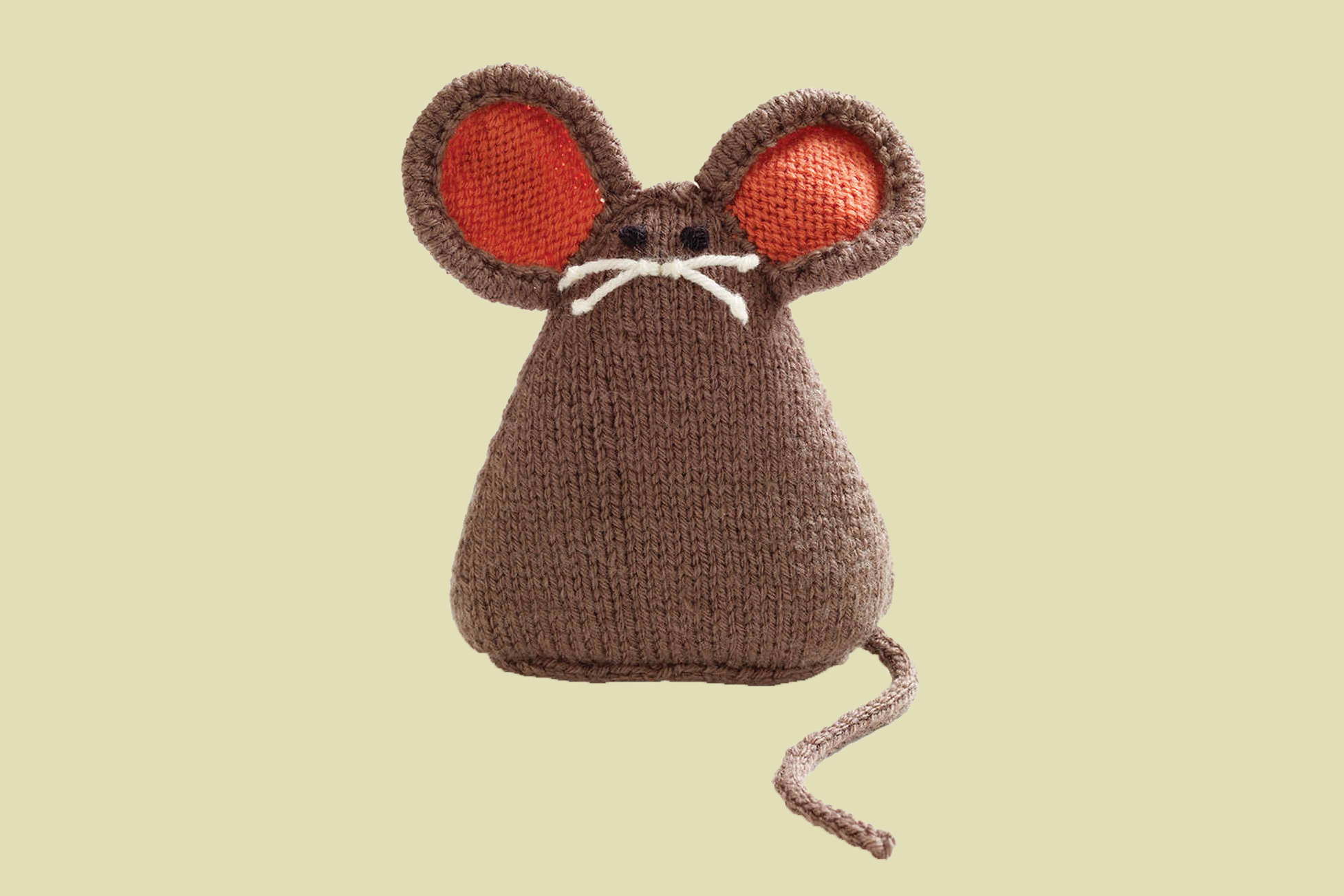 knit mouse cat toy