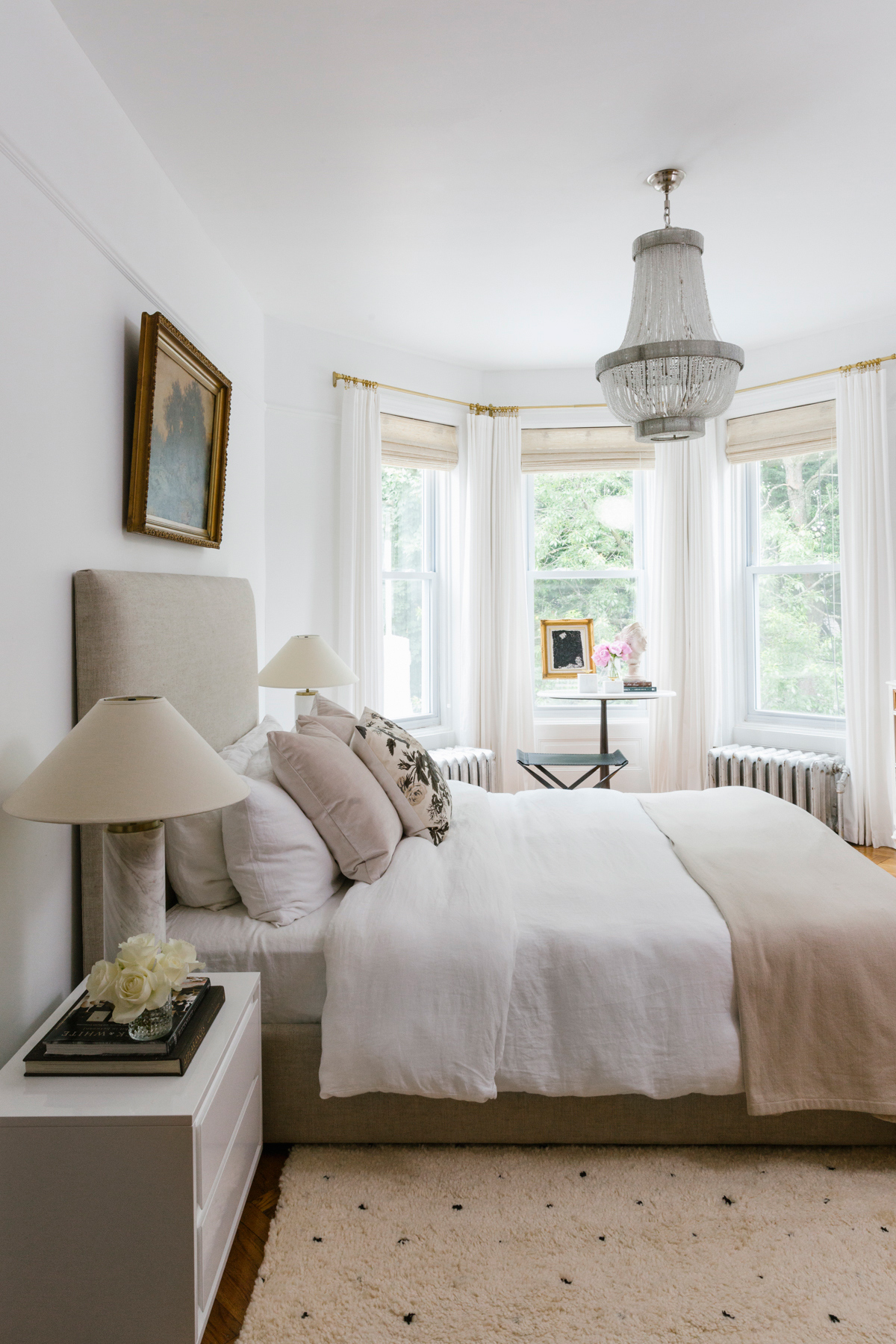 shelby nyc apartment bedroom neutral tones