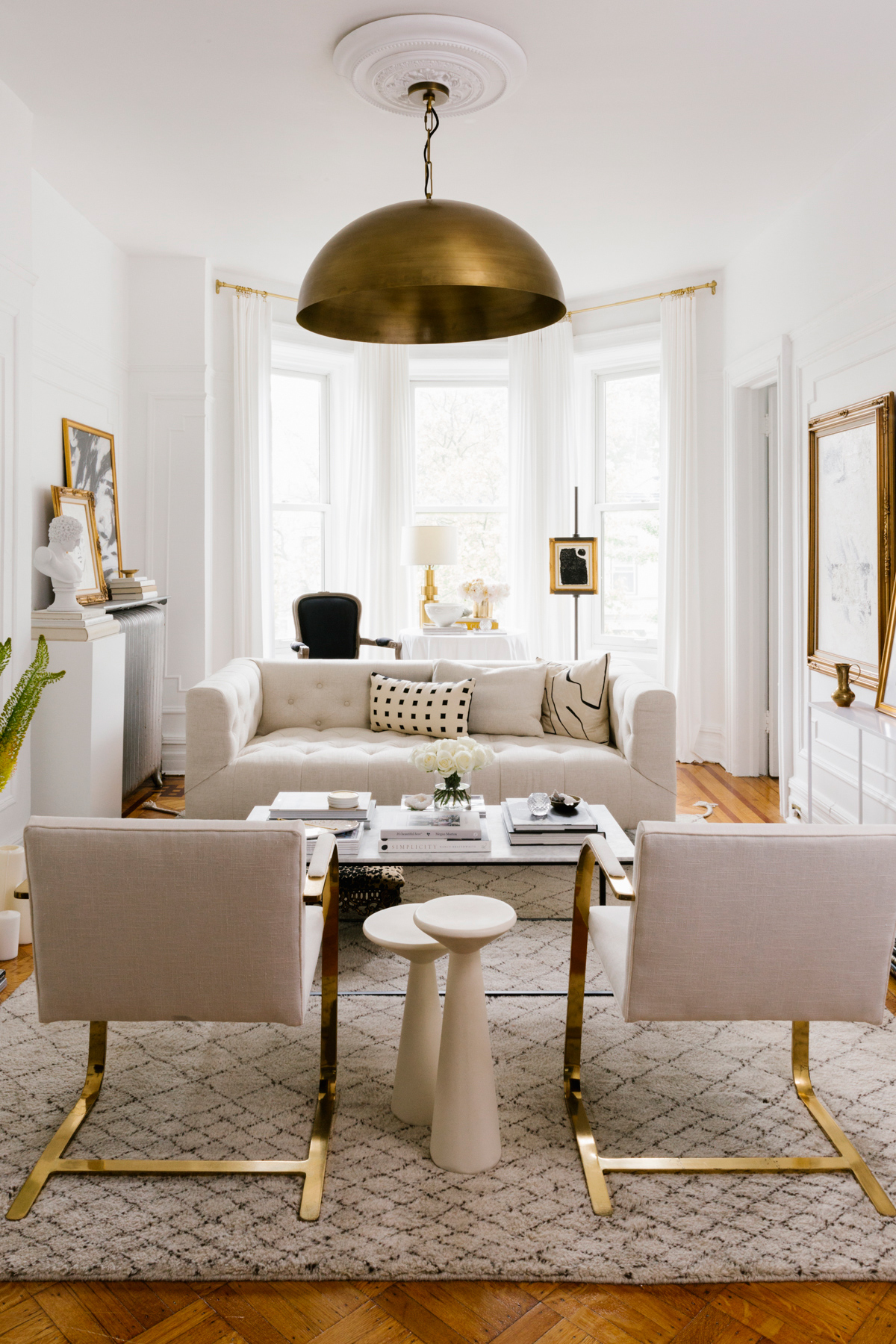shelby nyc apartment neutral colors living room
