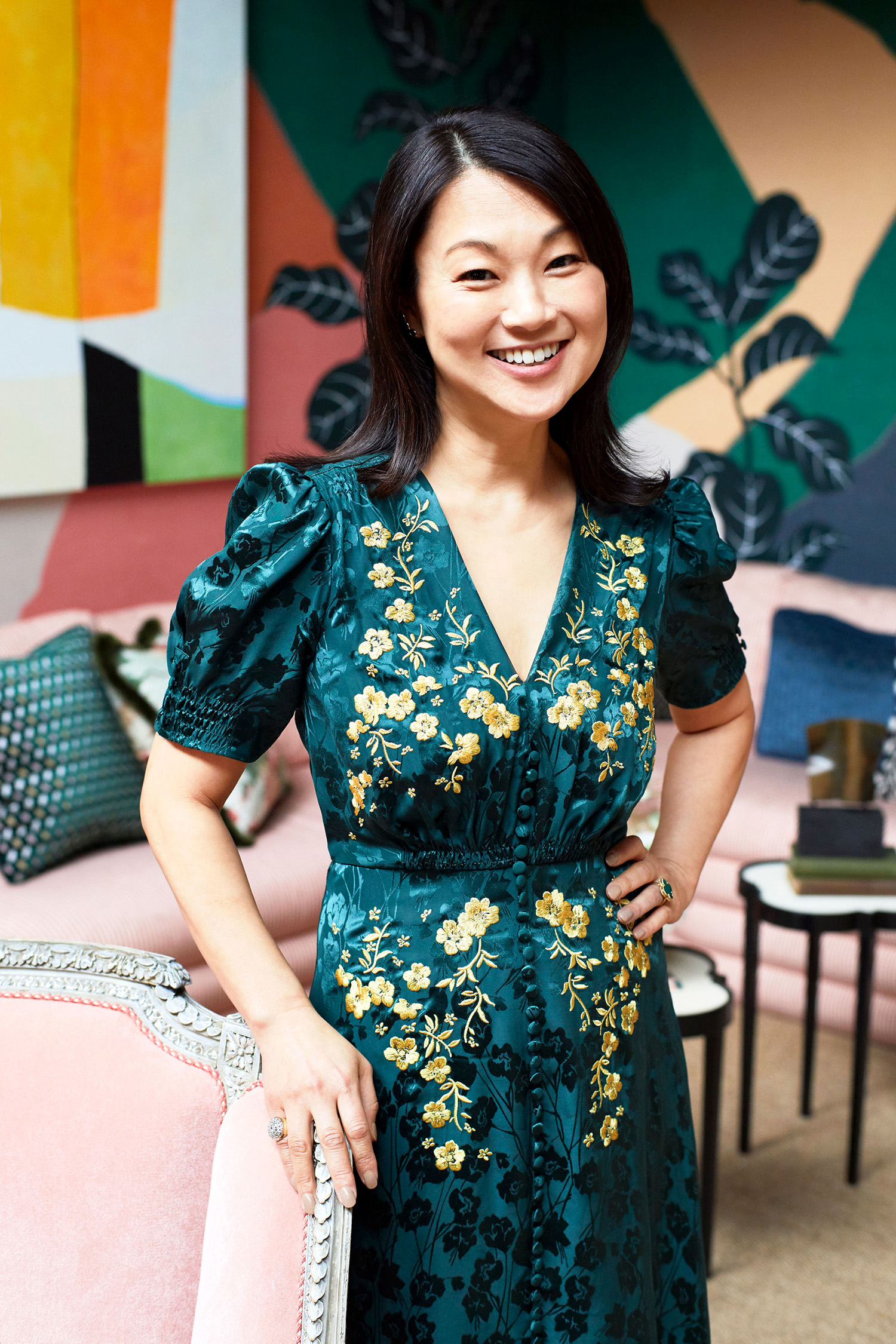Interior Designer Young Huh Doesn't Shy Away from Color and Print