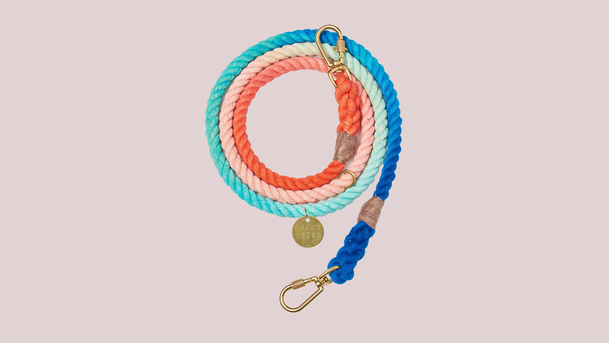 Sweetpea Cotton Ombre Rope Dog Leash