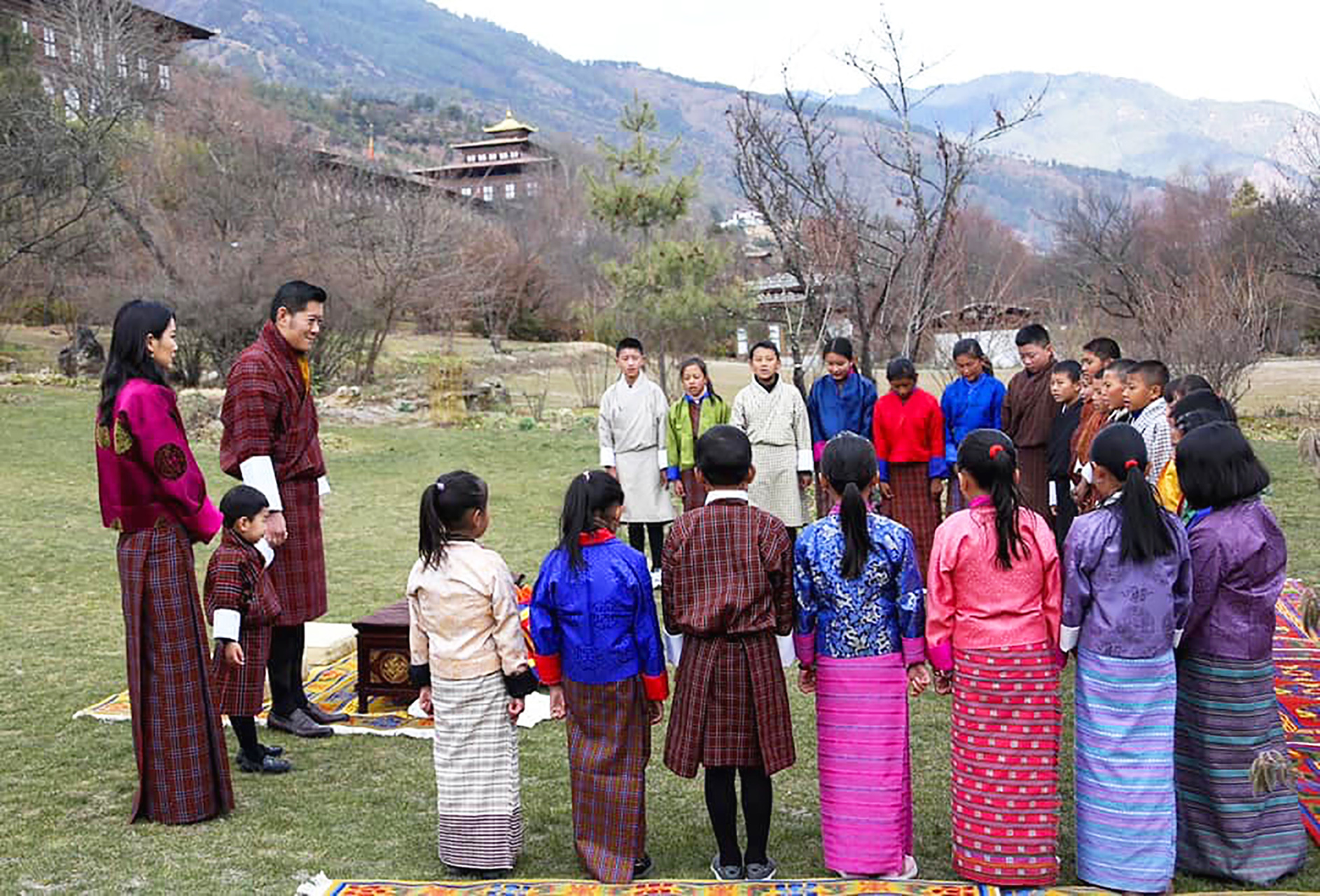 dynasty family outdoor holiday festivities Bhutan