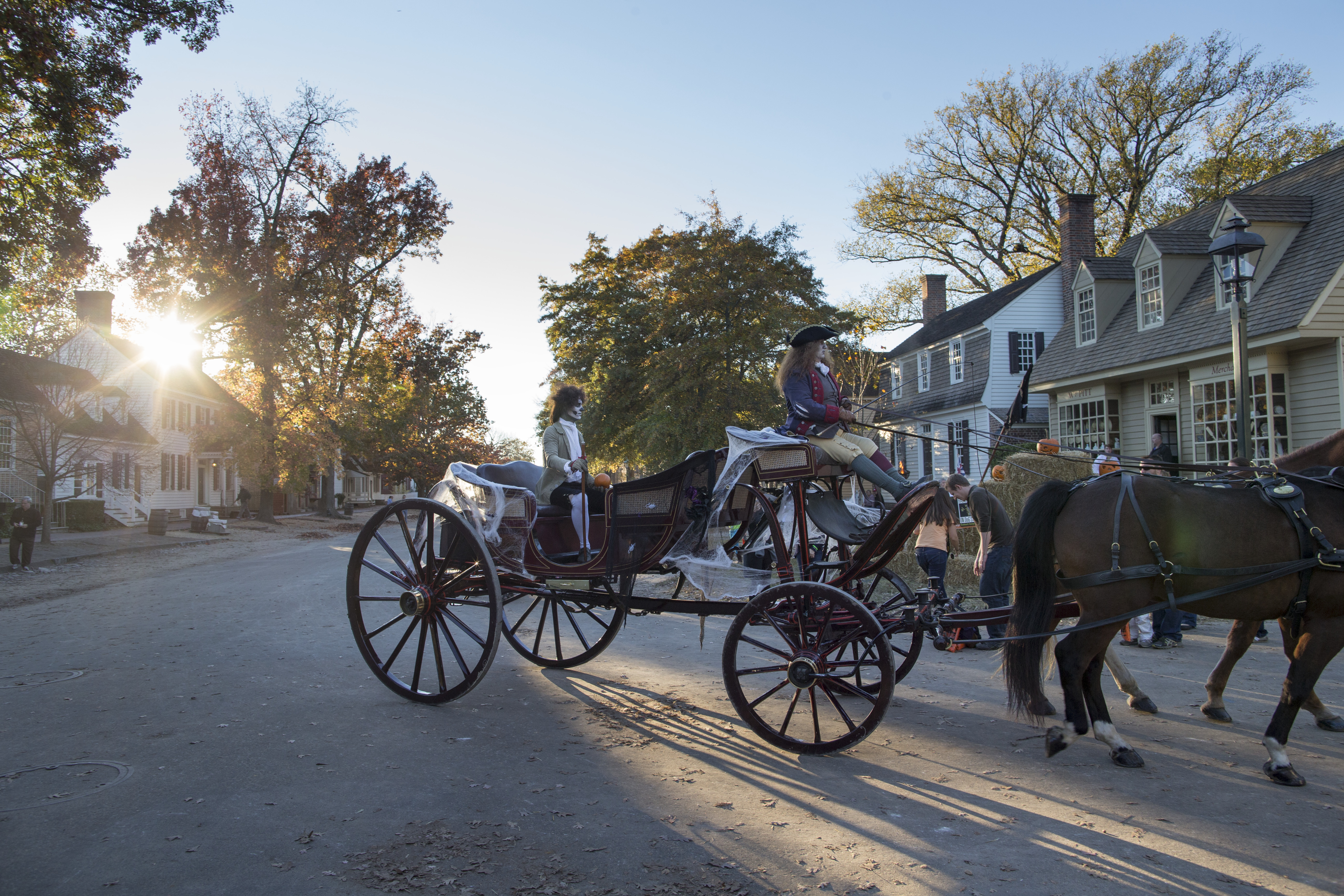 Spooky carriage ride in Colonial Williamsburg