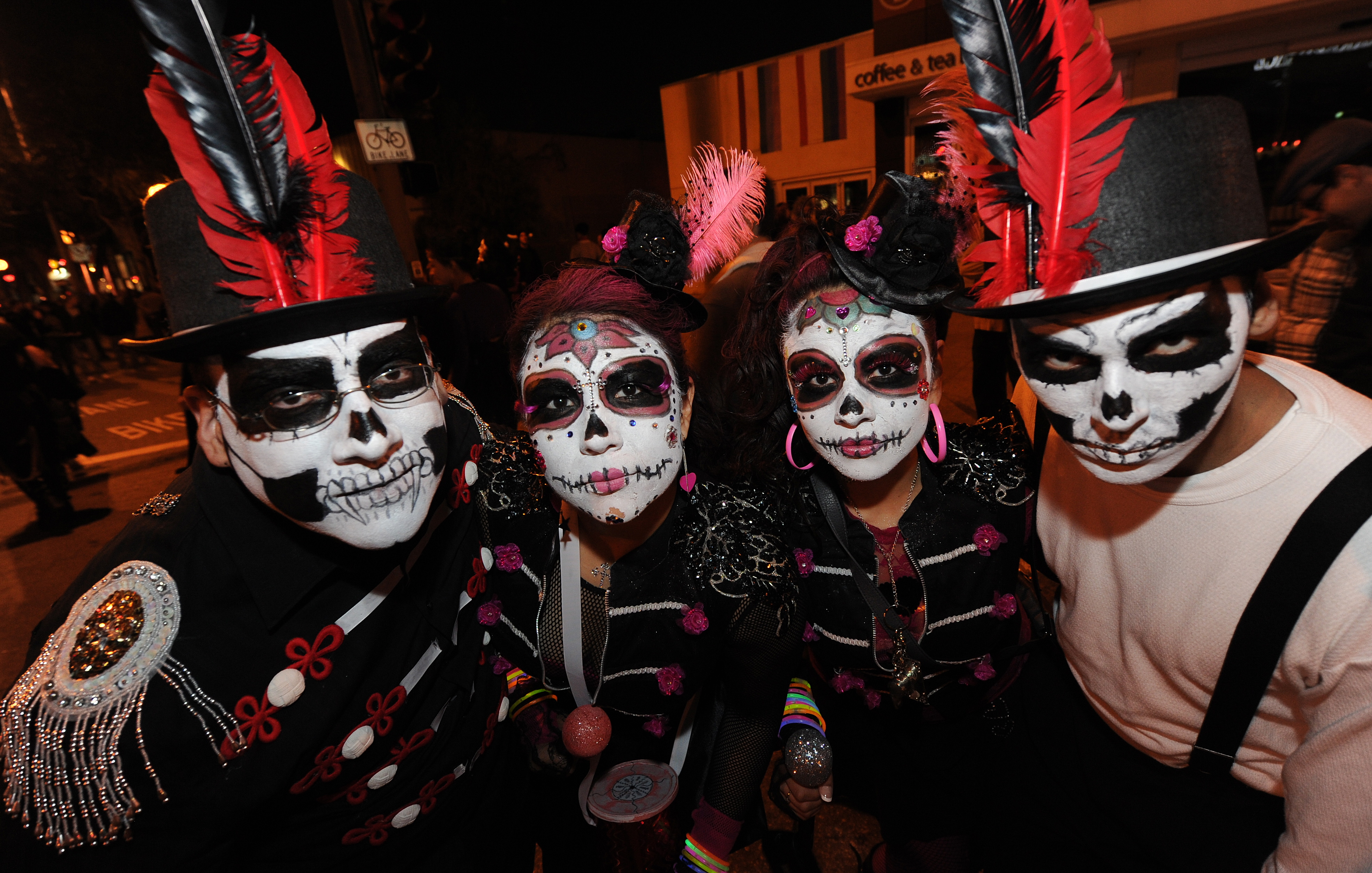 Day of the Dead costumes at West Hollywood Carnaval