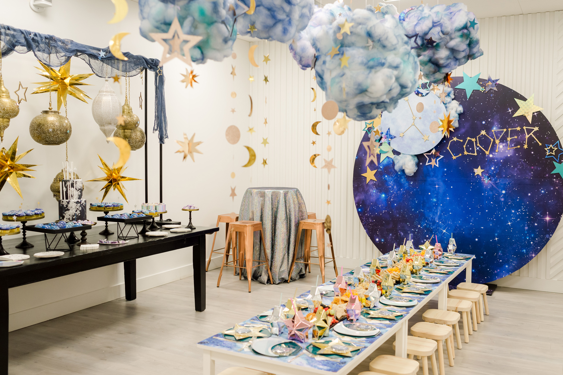 astrology themed birthday party decor