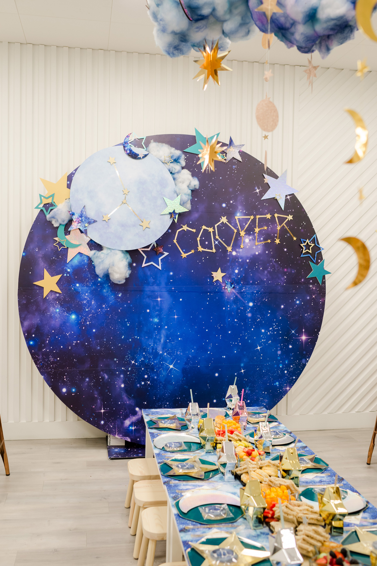 giant galaxy stars moon cut out decor