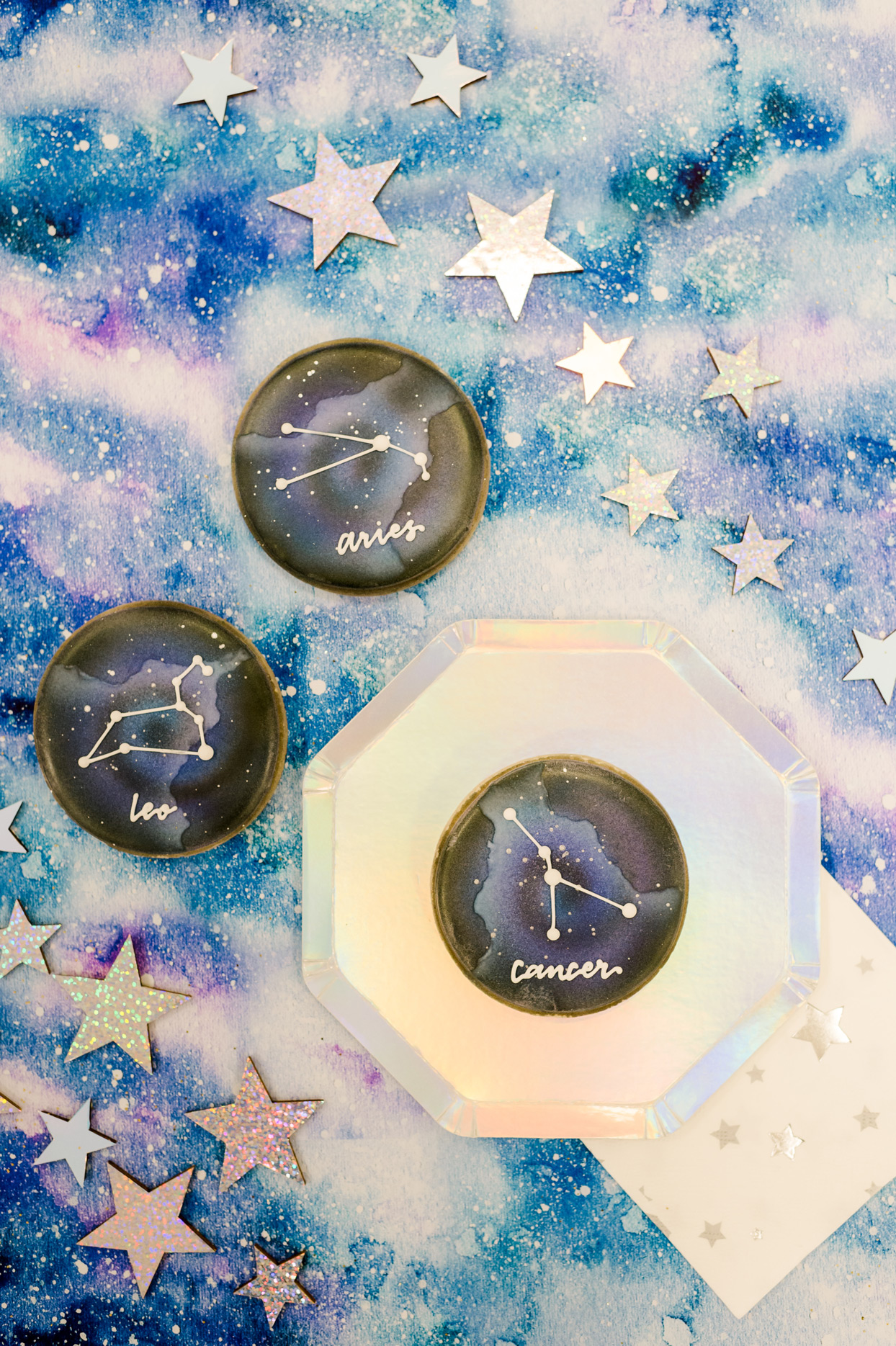 astrology constellation designed cookies